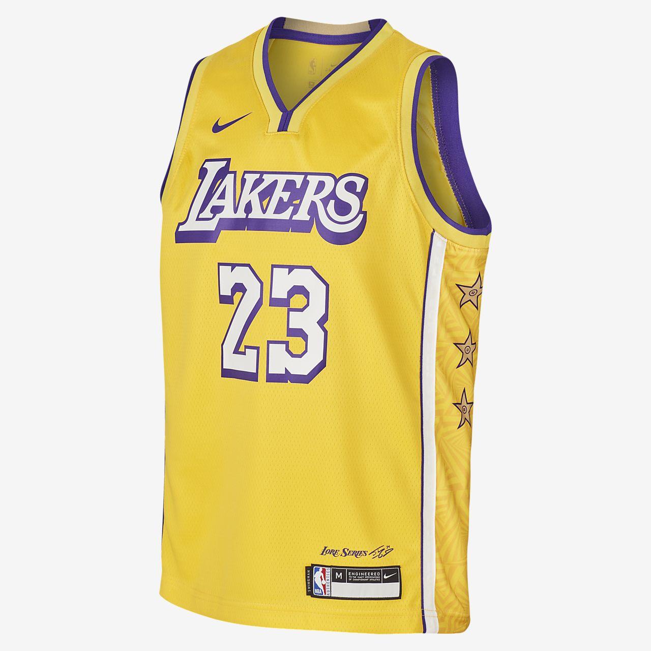 Camisola NBA da Nike Swingman LeBron James Lakers City Edition Júnior