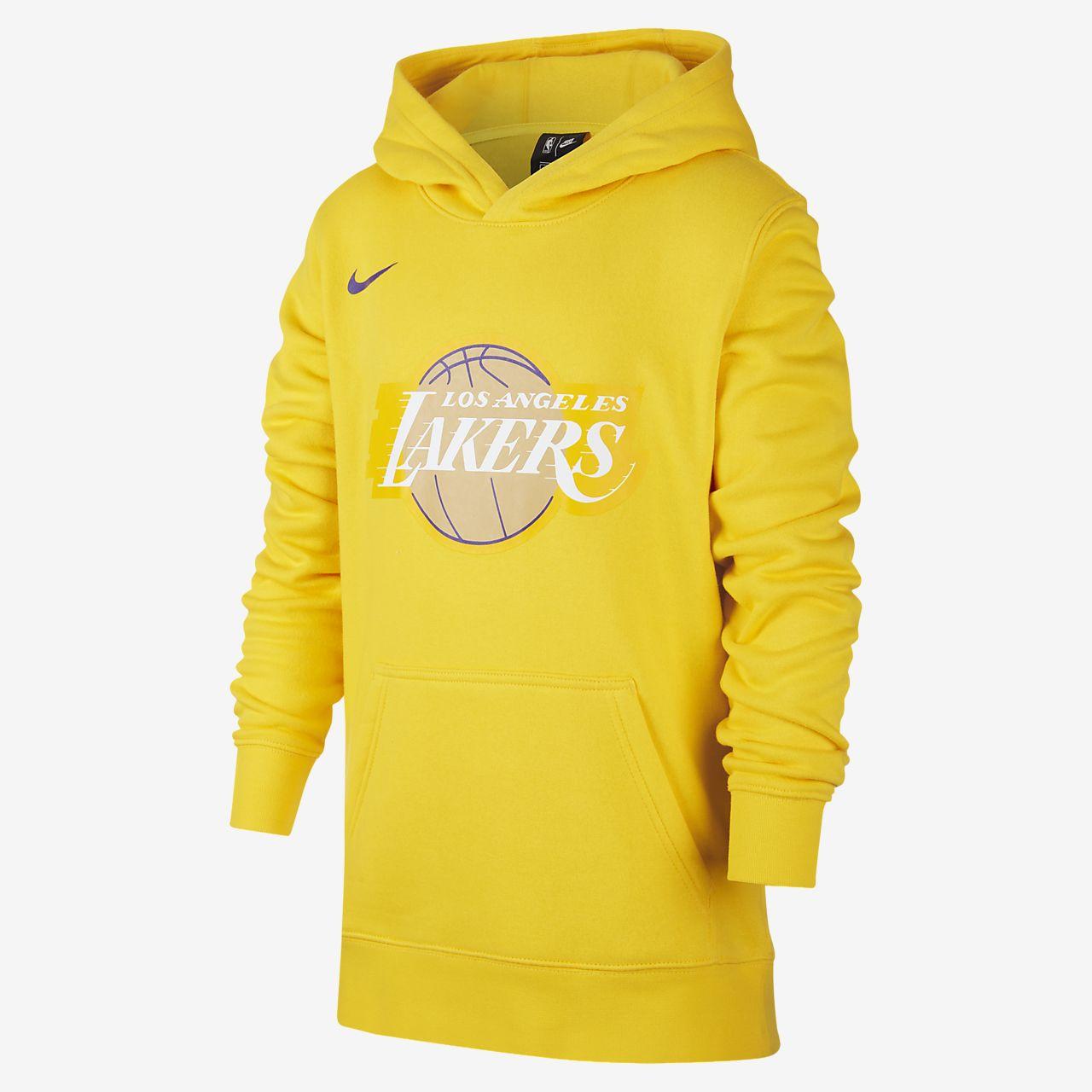 Sweat à capuche Nike NBA Lakers City Edition Logo pour Enfant plus âgé