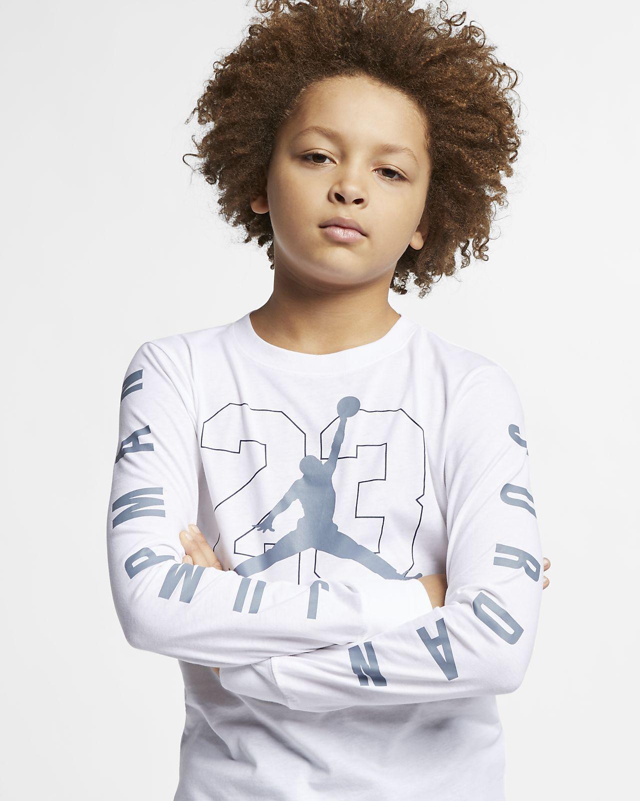 Långärmad t-shirt med tryck Jordan Jumpman 23 för ungdom (killar)