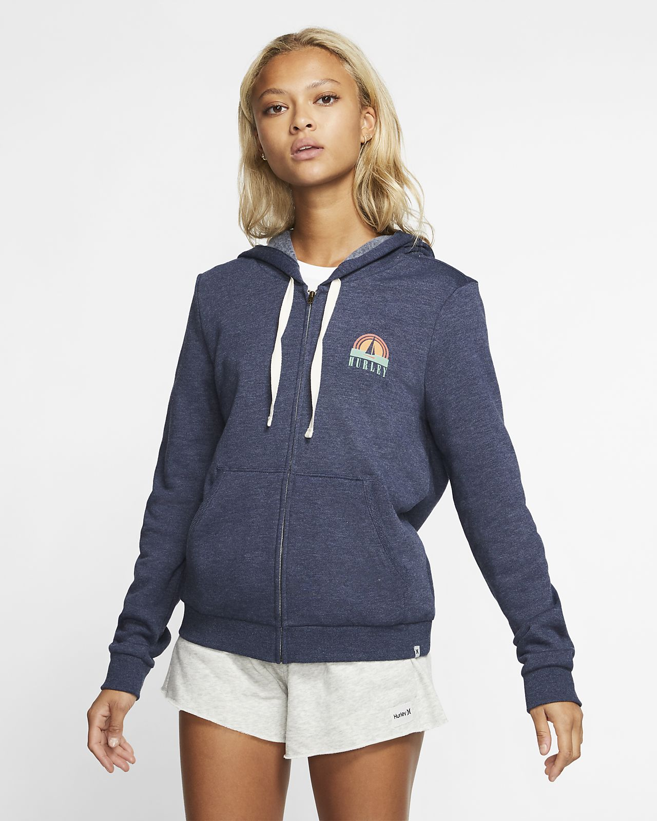 Sweat à capuche à zip Hurley Sail Away Perfect pour Femme