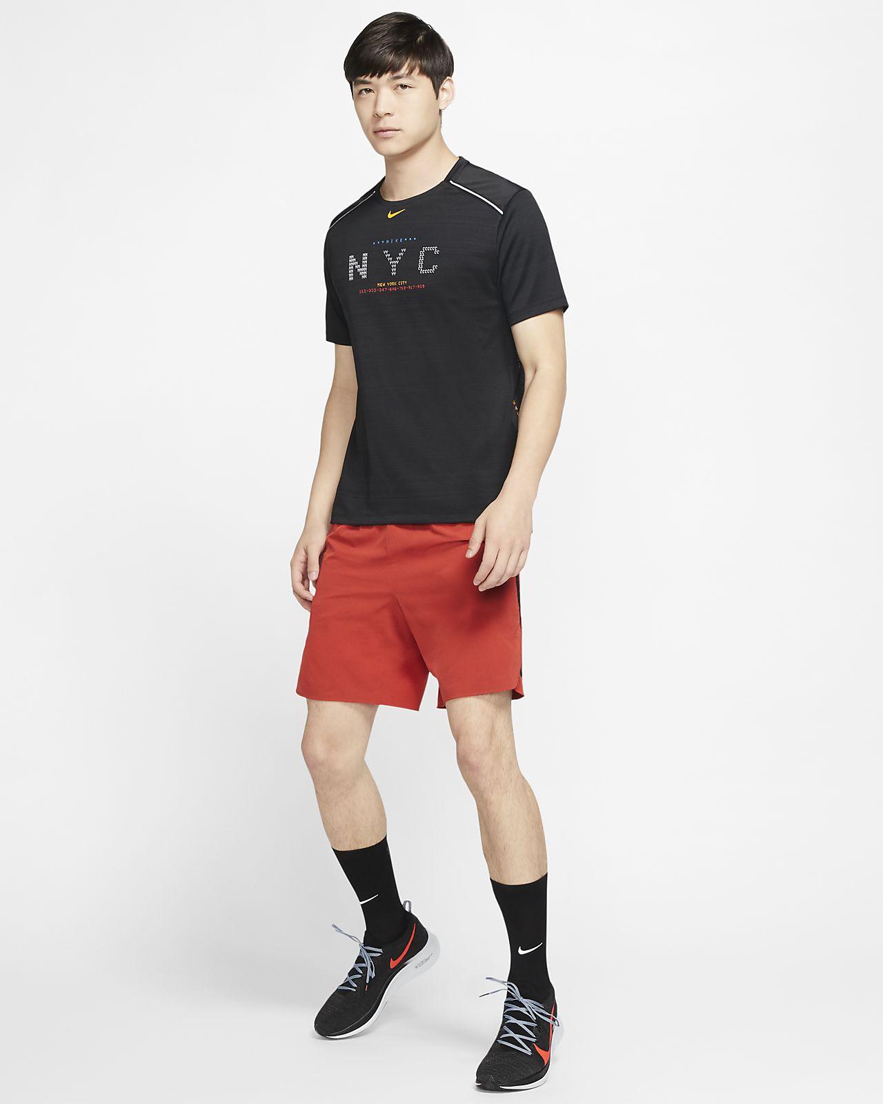 Kortärmad löpartröja Nike Dri-FIT Miler NYC för män