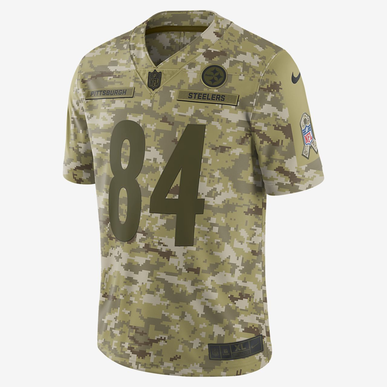 NFL Pittsburgh Steelers Salute to Service (Antonio Brown)  Big Kids' Football Jersey
