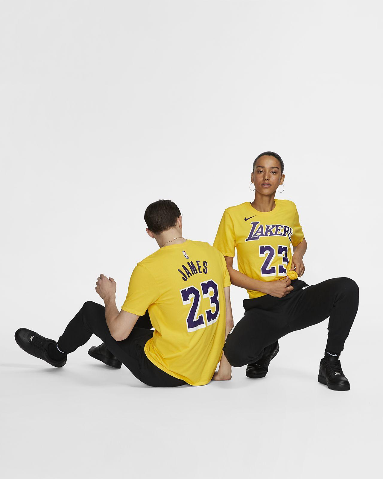 6ff09bd2 LeBron James Los Angeles Lakers Nike Dri-FIT NBA T-Shirt