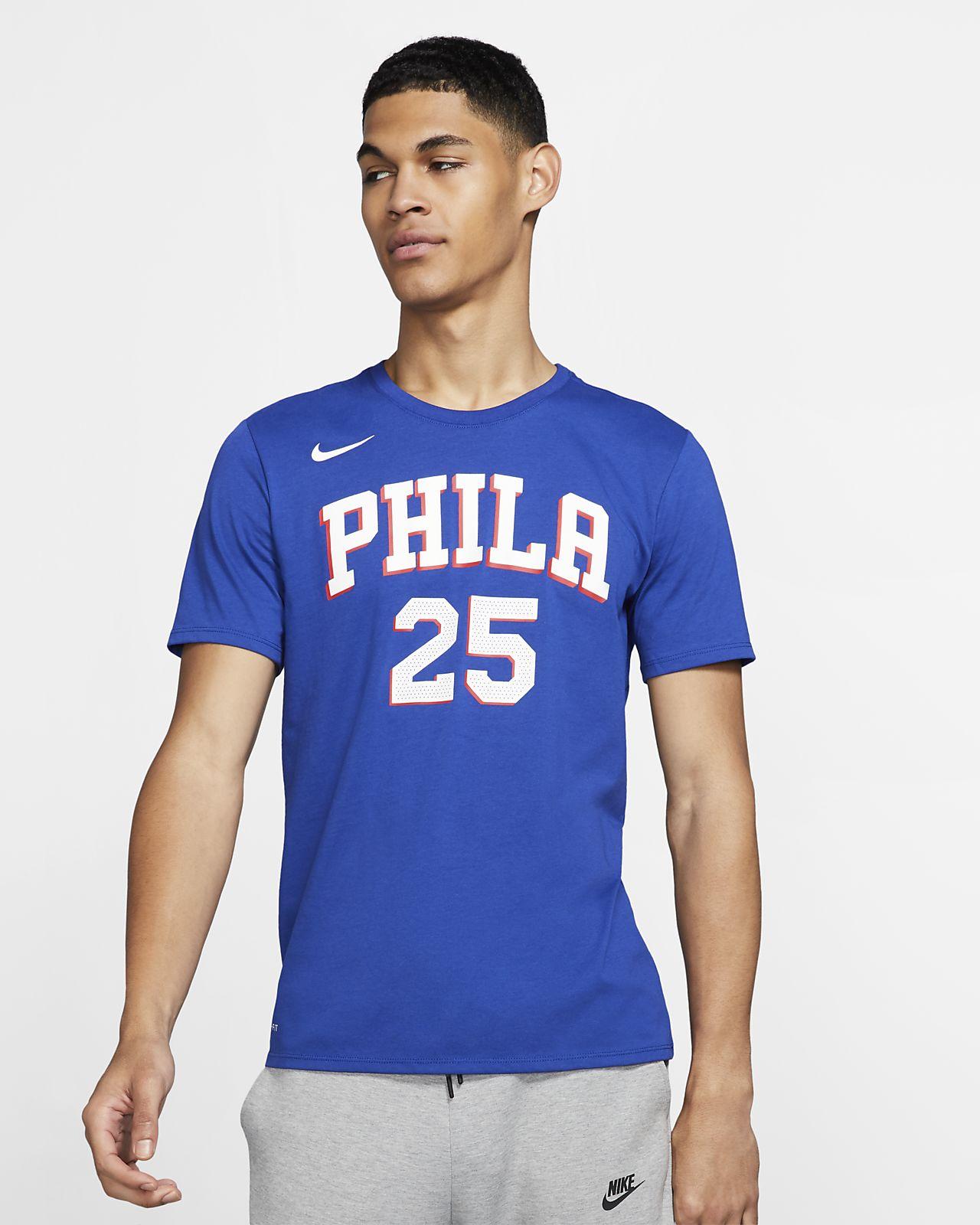 เสื้อยืด NBA ผู้ชาย Ben Simmons Philadelphia 76ers Nike Dri-FIT