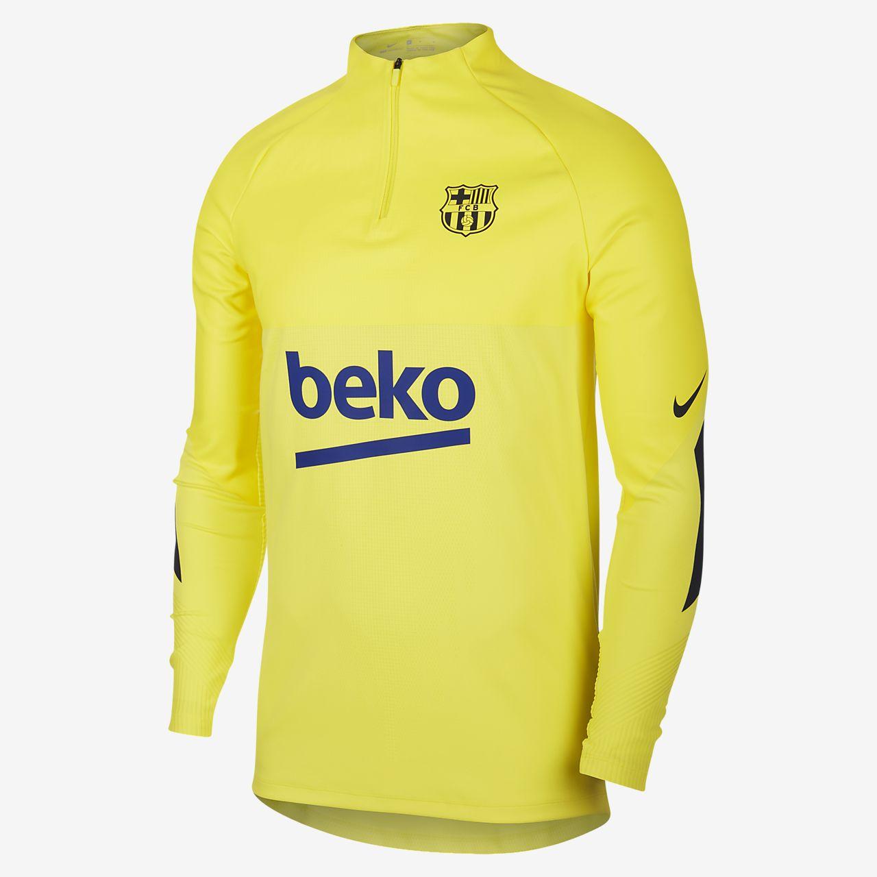 Nike VaporKnit FC Barcelona Strike Drill Fußballoberteil für Herren