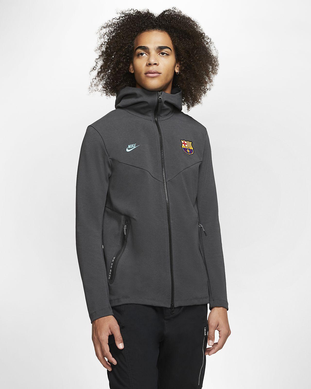 Ανδρική μπλούζα με κουκούλα και φερμουάρ σε όλο το μήκος FC Barcelona Tech Pack