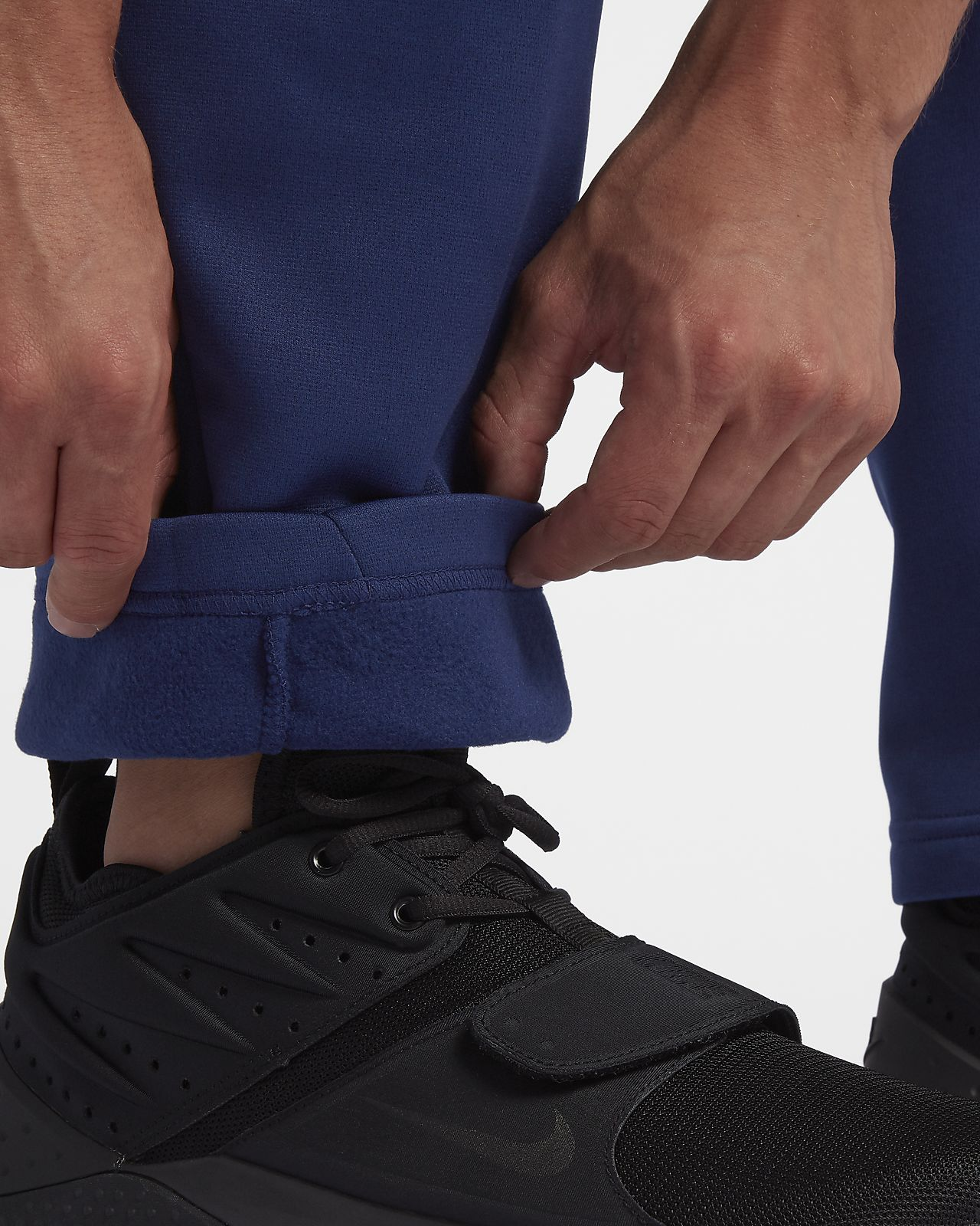NIKE Men/'s $55 THERMA Fleece Training Pants NEW 932253-010 DRI-FIT BLACK S-XL