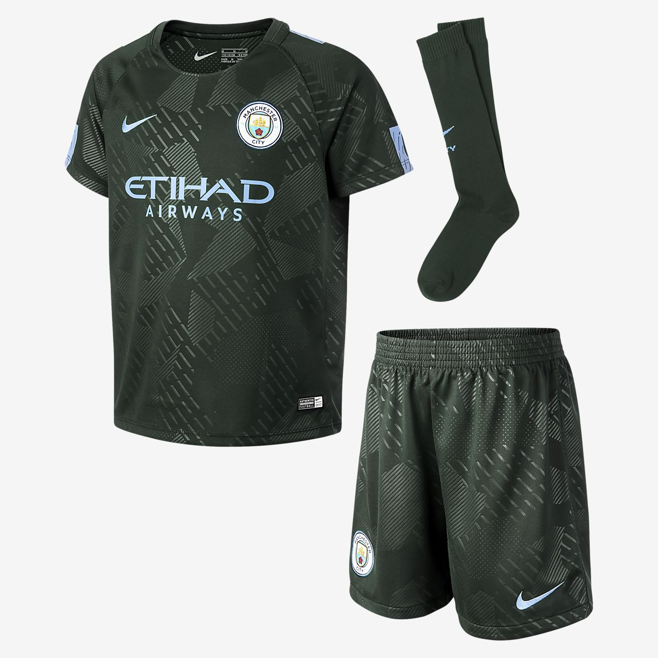 ... 2017/18 Manchester City FC Stadium Third Younger Kids' Football Kit