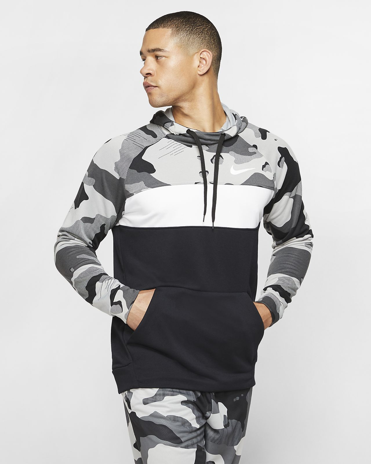 Nike Dri FIT Men's Fleece Camo Training Hoodie