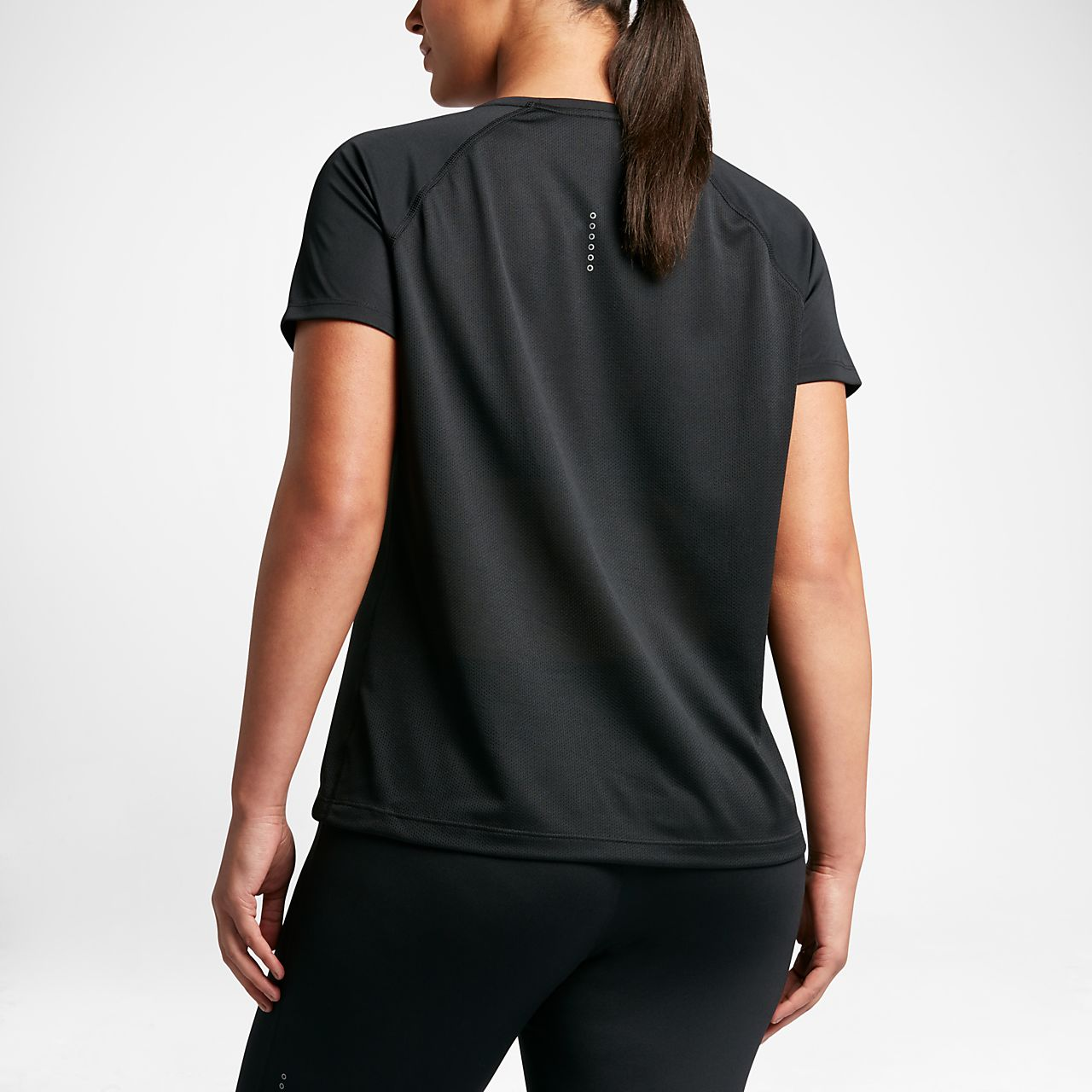 ... Nike Miler (Plus Size) Women's Short-Sleeve Running Top