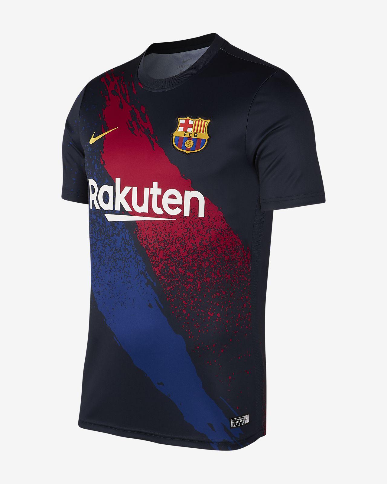 Camisola de futebol de manga curta FC Barcelona para homem