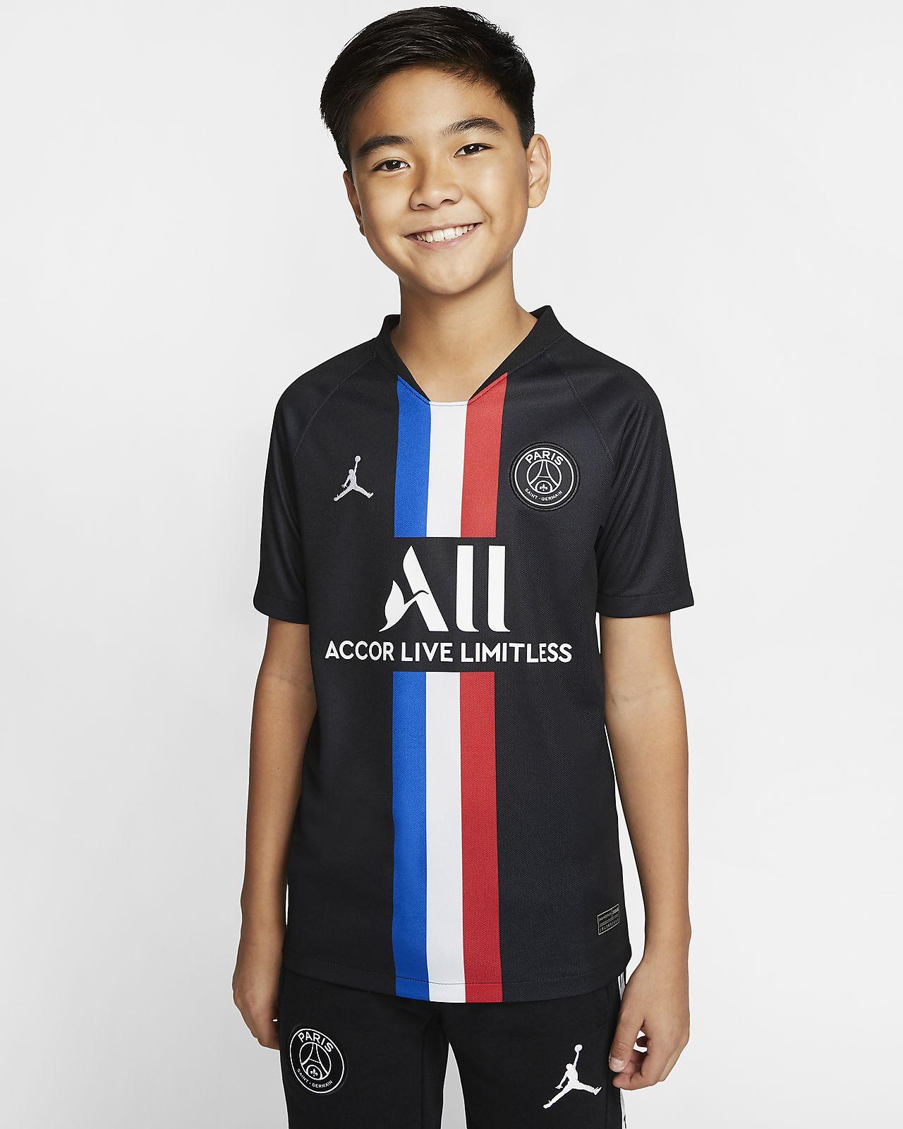 Camiseta de fútbol para niños talla grande Jordan x Paris Saint-Germain 2019/20 Stadium Fourth