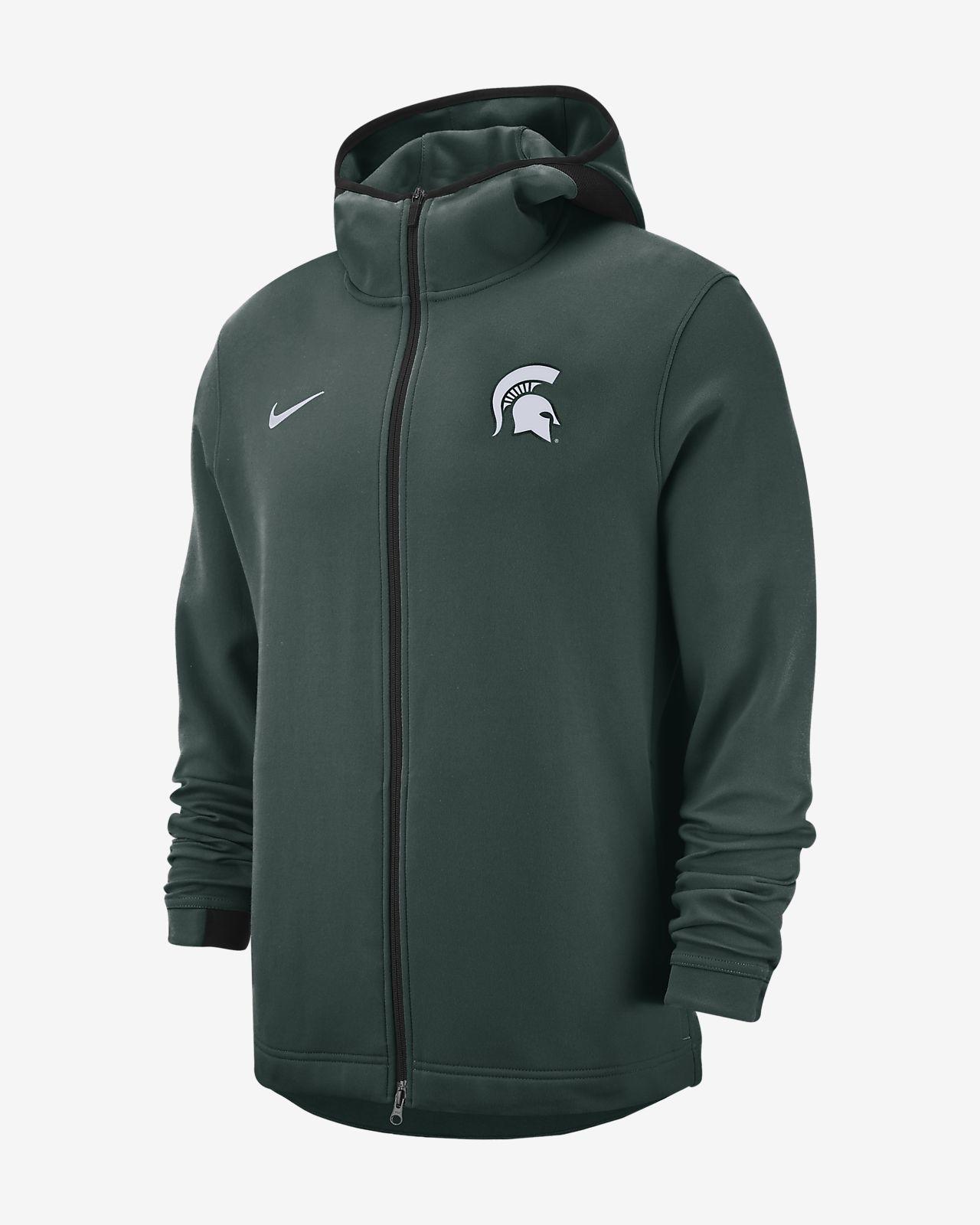 Nike College Dri Fit Showtime Michigan State Men S Full Zip Hoodie