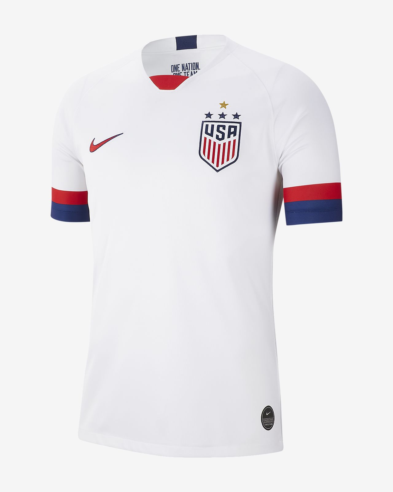 U.S. 2019 Stadium Home (4-Star) Men's Soccer Jersey