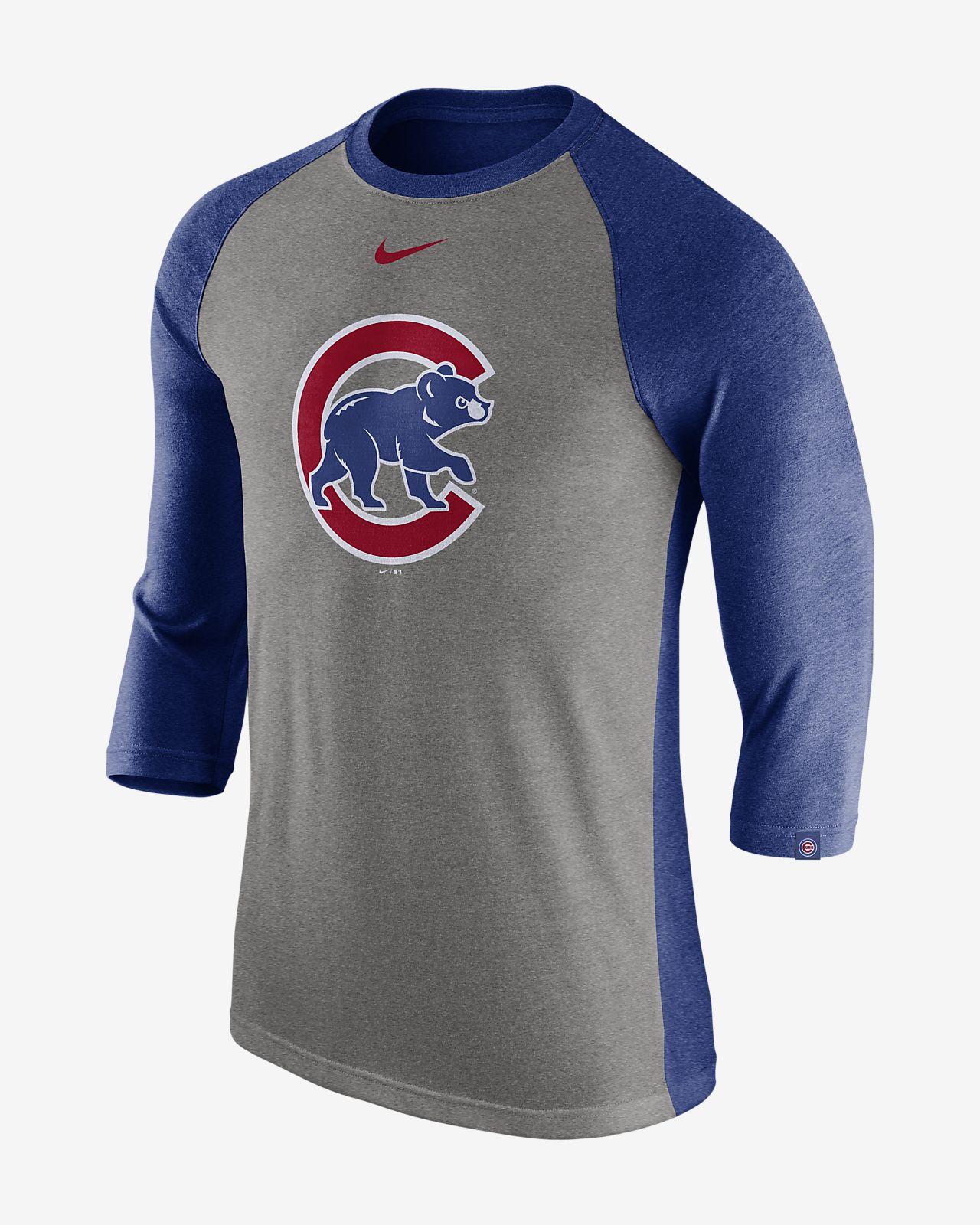 Nike Tri Raglan (MLB Cubs) Men's 3/4 Sleeve Top