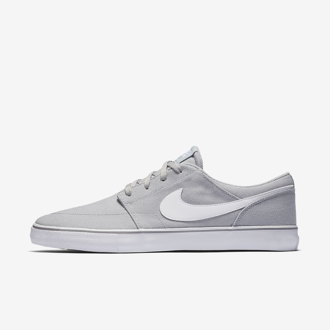 Nike SB Solarsoft Portmore II Mid Men's Skateboarding Shoes Grey/White vZ1347Y
