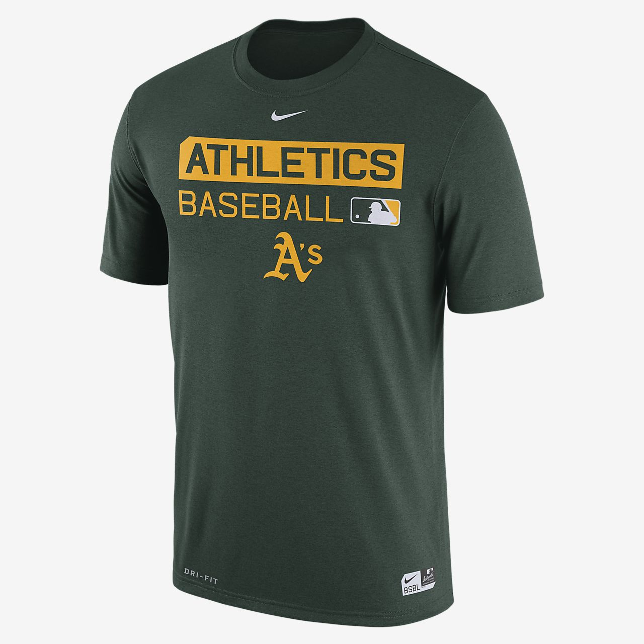 Nike Legend Team Issue (MLB A's) Men's T-Shirts Green