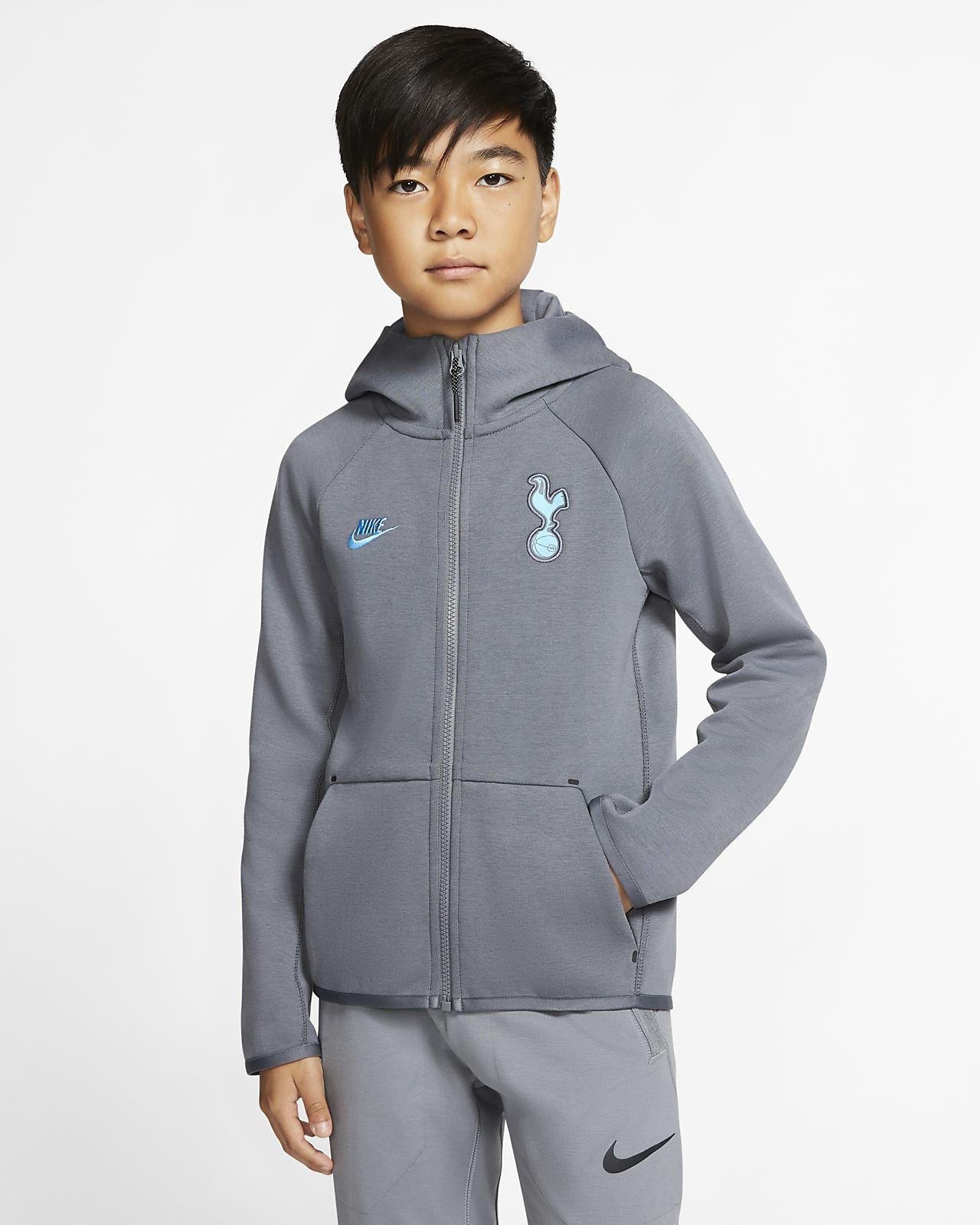 Tottenham Hotspur Tech Fleece Essentials Older Kids' Full-Zip Hoodie