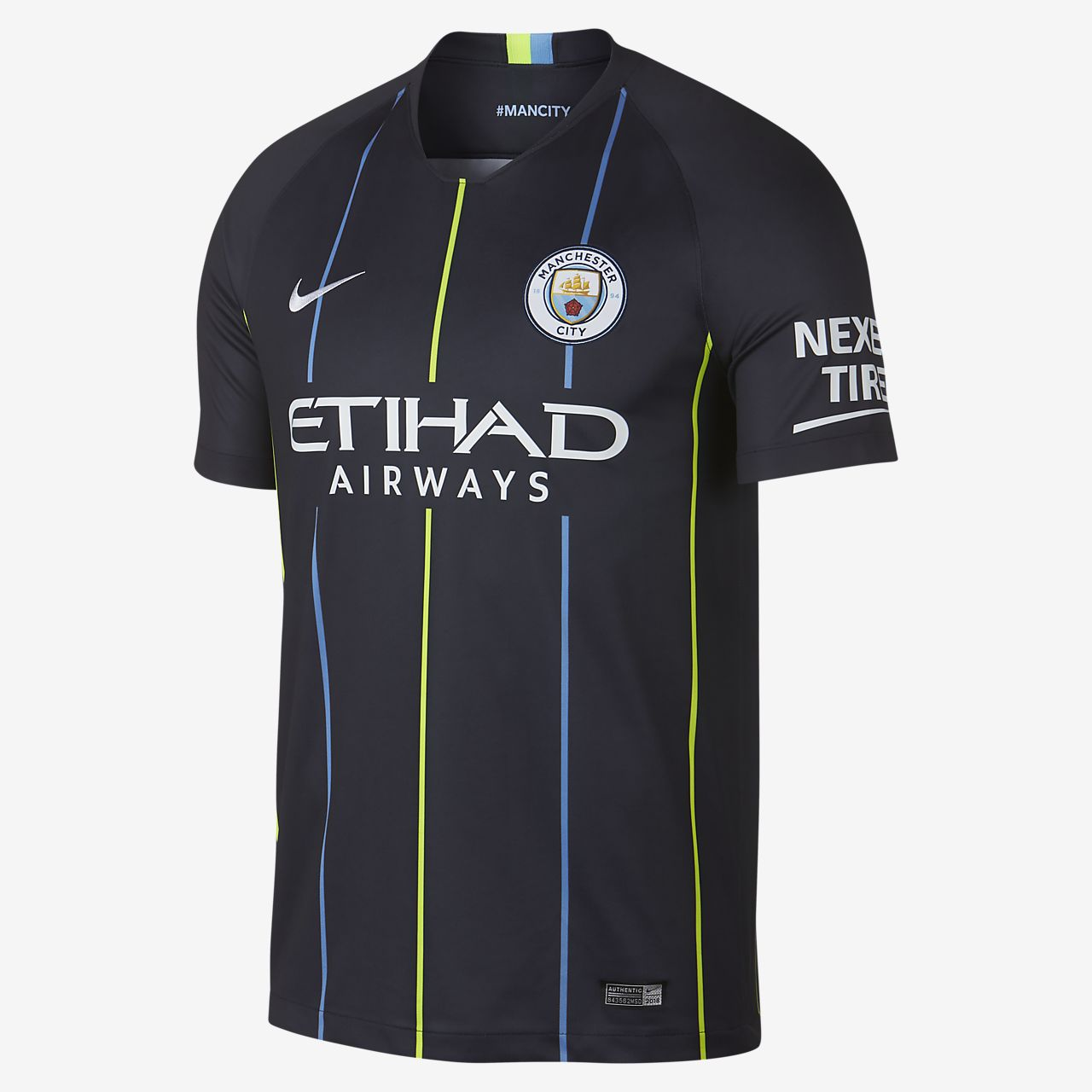 Camiseta de fútbol para hombre de visitante Stadium del Manchester City FC 2018/19