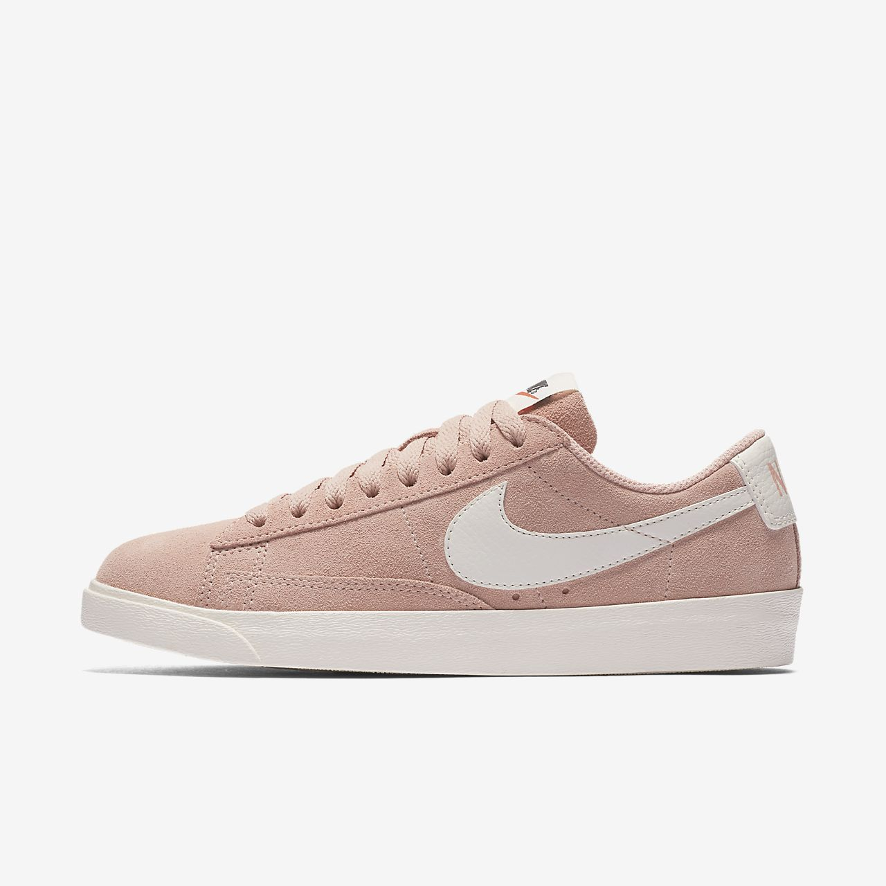 nike blazer low gold suede skirt