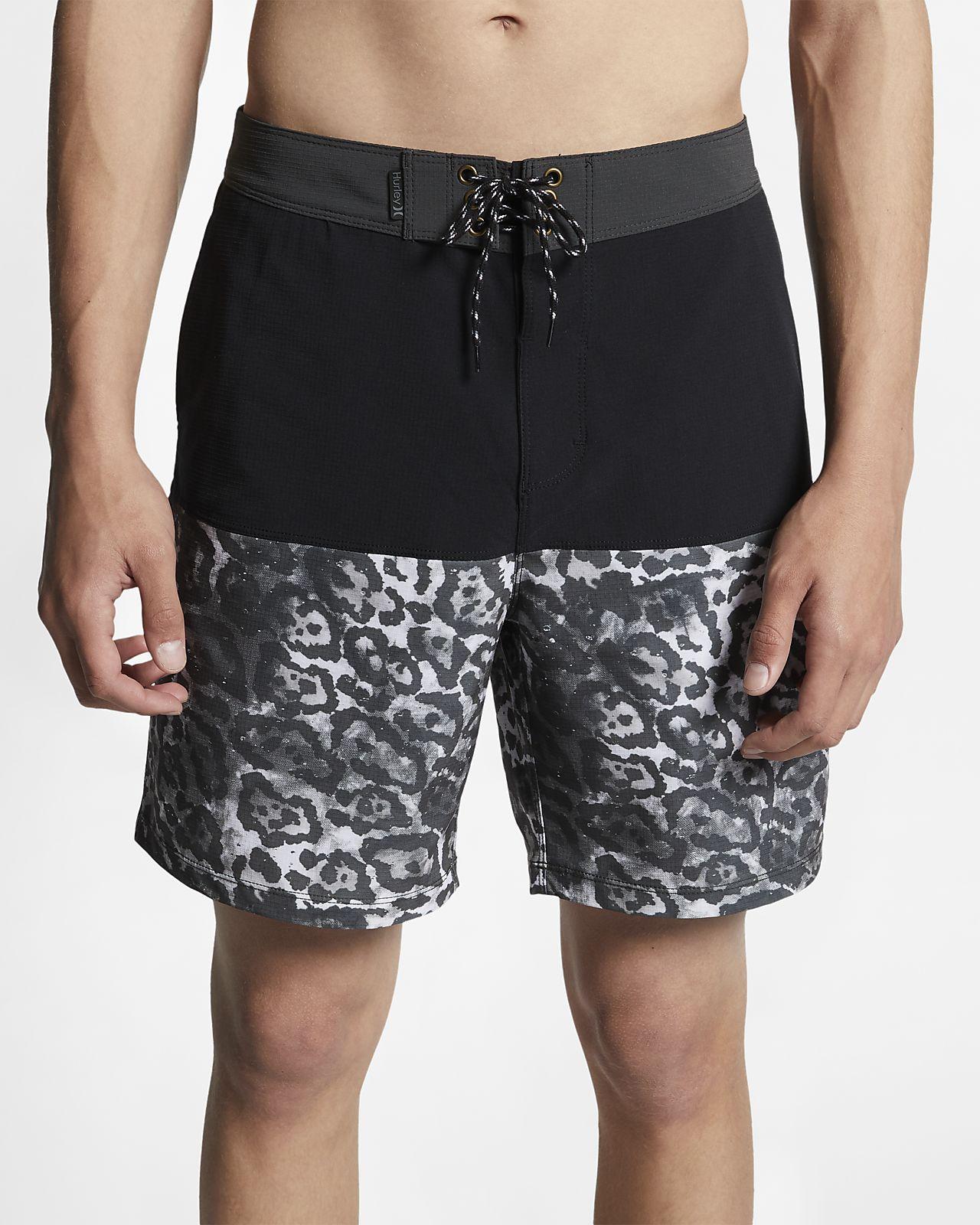 Shorts de playa de 46 cm con estampado de leopardo para hombre Hurley Phantom