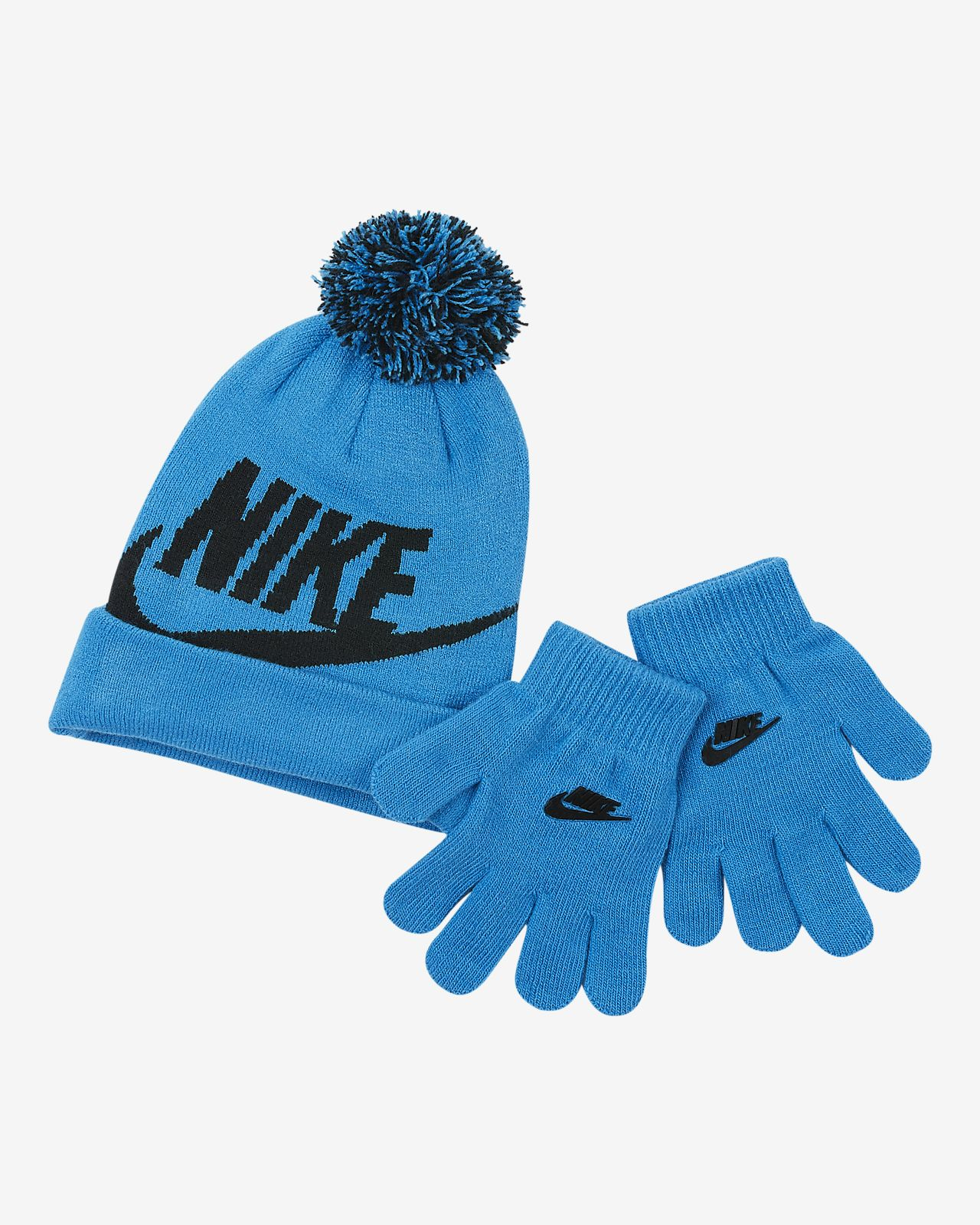Nike Little Kids  2-Piece Beanie and Gloves Set. Nike.com 80ebce9fe93