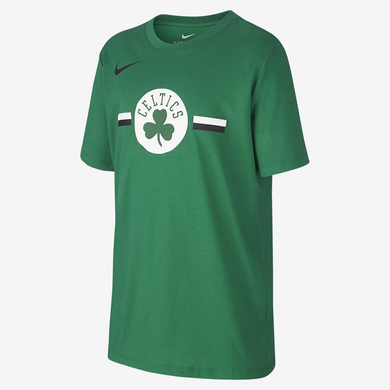 Boston Celtics Nike Dri-FIT Logo Older Kids' NBA T-Shirt