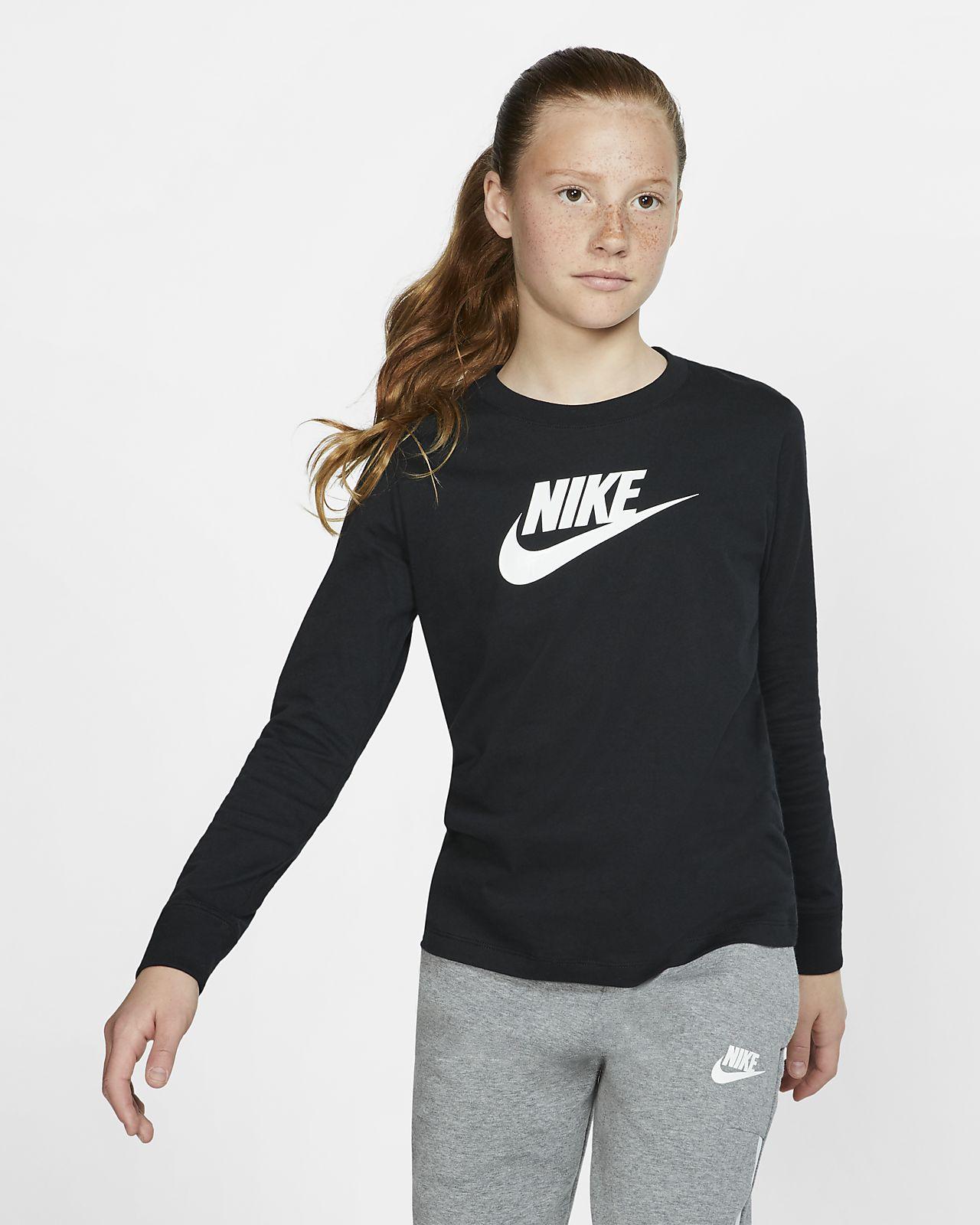 91aa0028d5e4c ... Tee-shirt à manches longues Nike Sportswear pour Enfant plus âgé