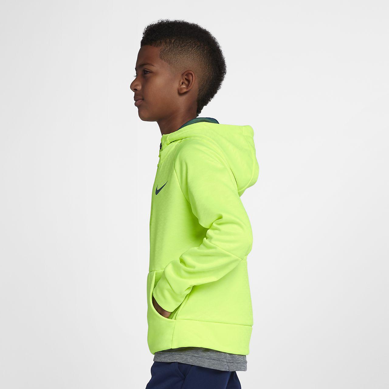 7d84bd1d8256 Nike Dri-FIT Therma Big Kids  (Boys ) Half-Zip Training Hoodie. Nike.com