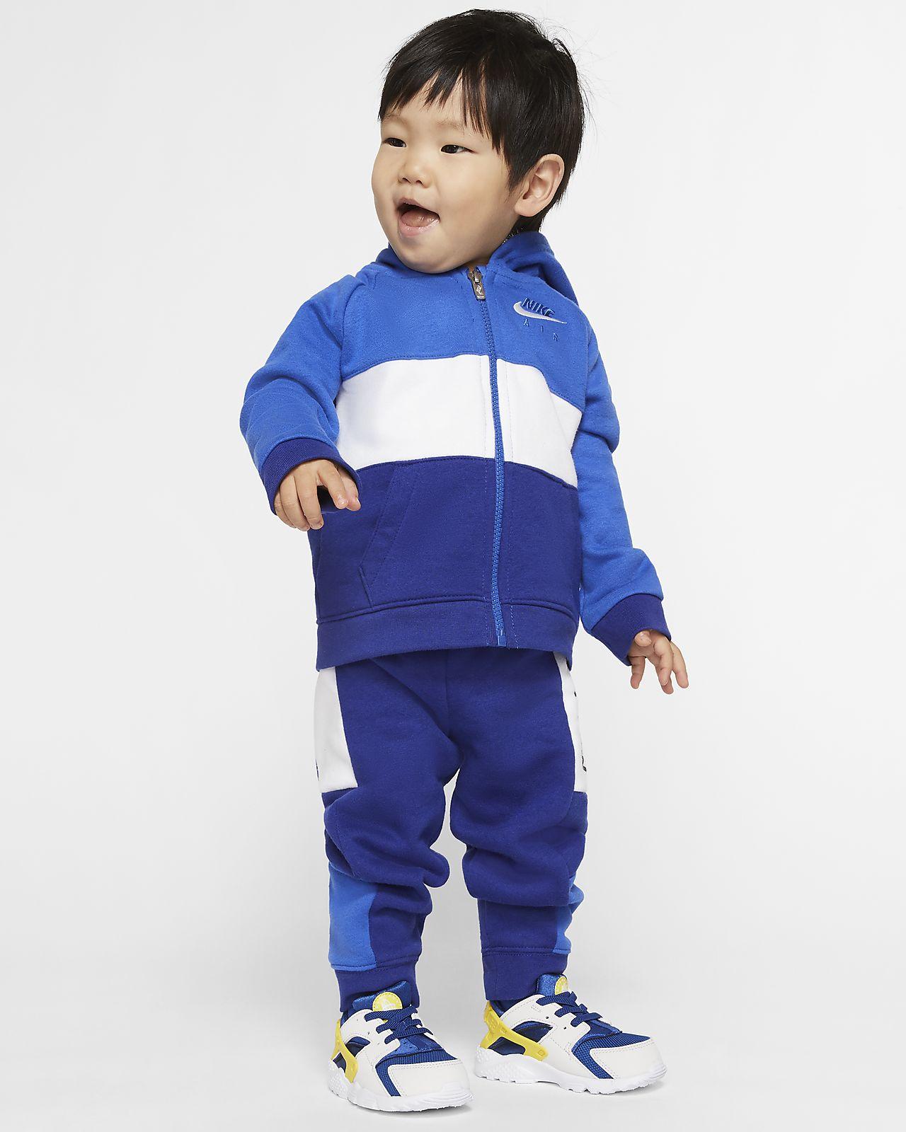 Nike Air-sæt med hættetrøje og joggingbukser til babyer (12-24 M)
