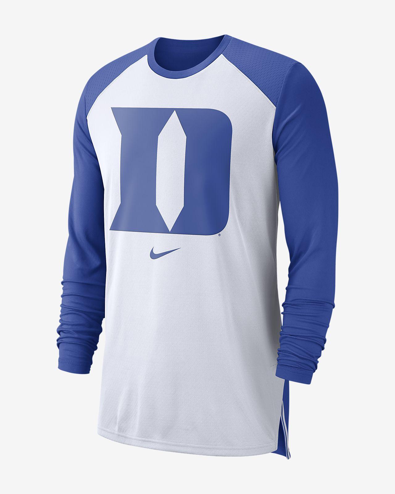 Nike College Dri Fit Duke Mens Long Sleeve Basketball Top Nikecom