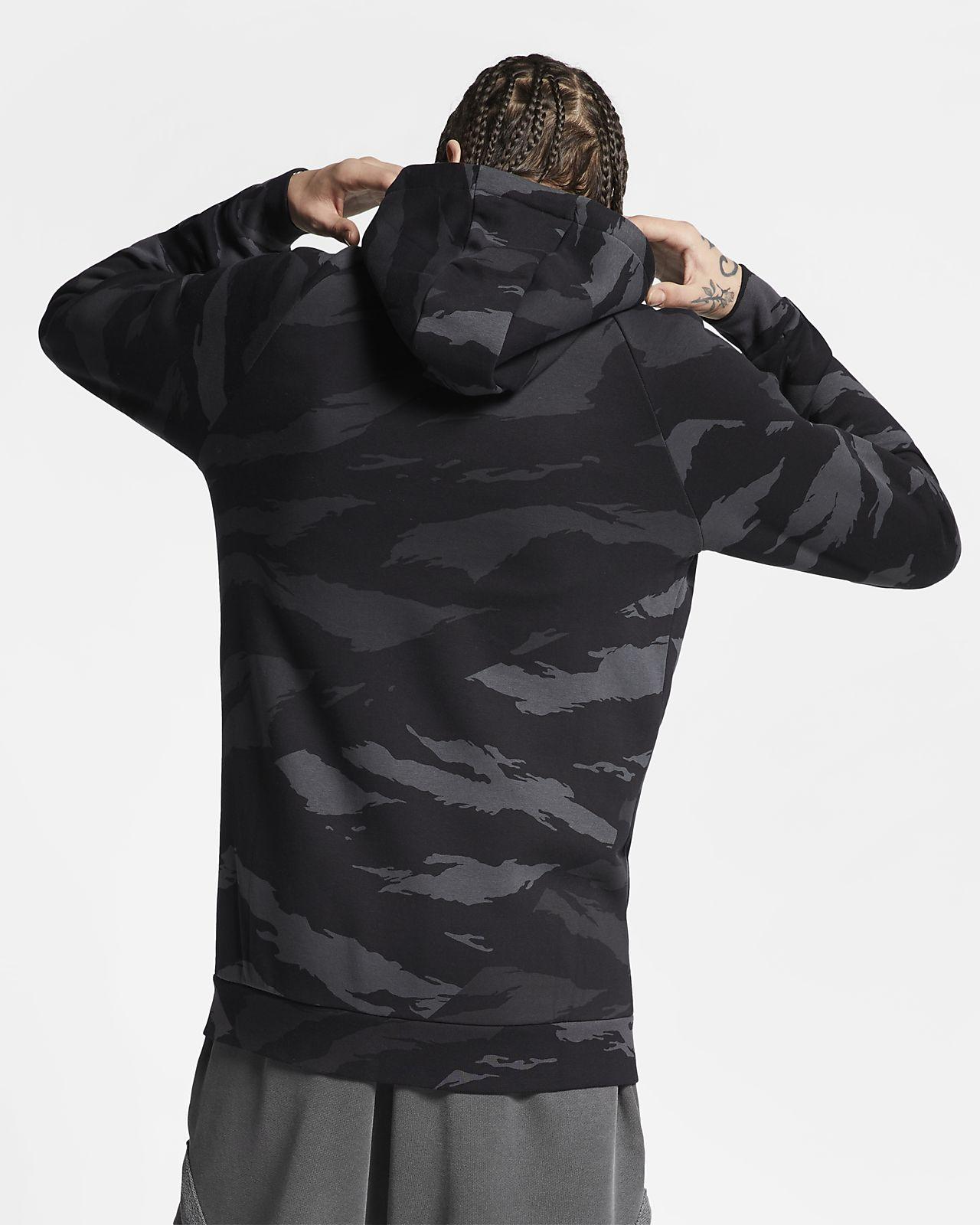 NIKE Felpa con cappuccio camouflage 'Air Jordan'