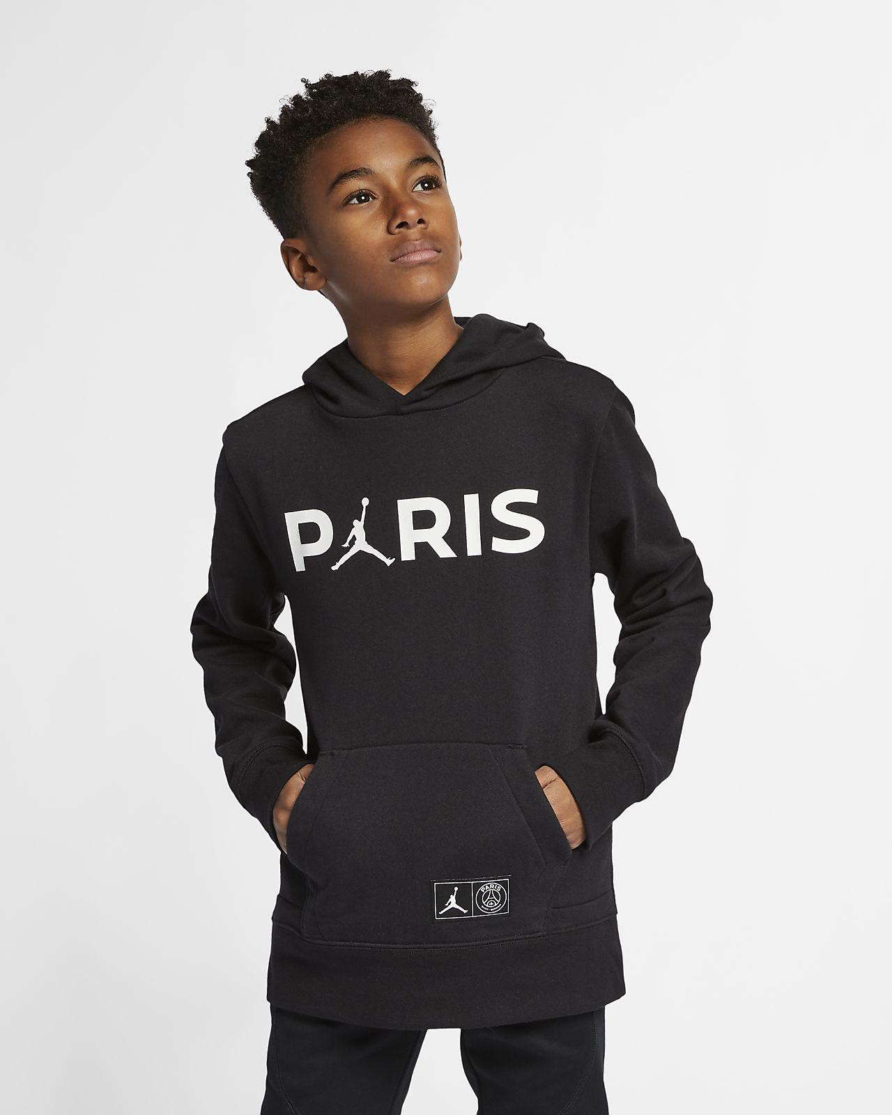PSG-pullover-hættetrøje i fleece til store børn (drenge)