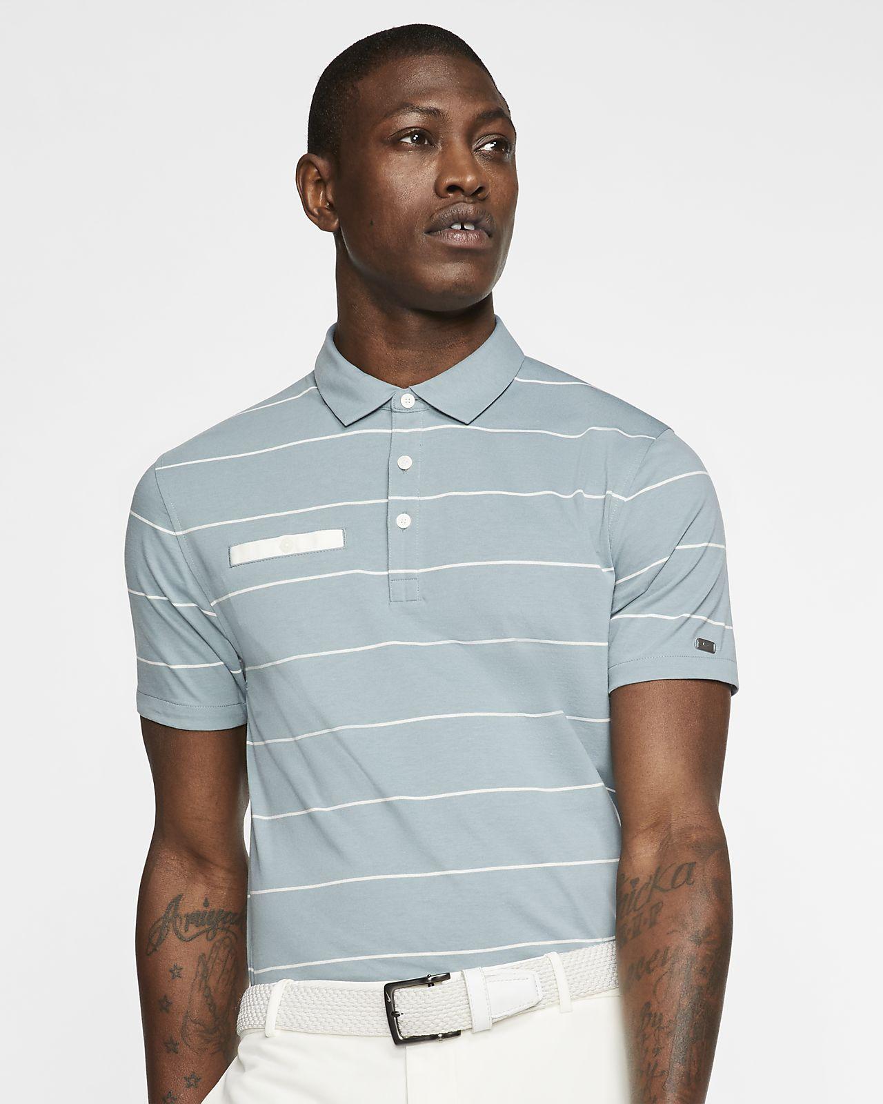Nike Dri-FIT Player-golfpolo med striber til mænd