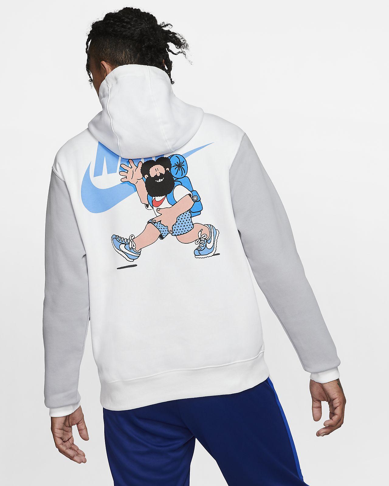 nike fleece blue