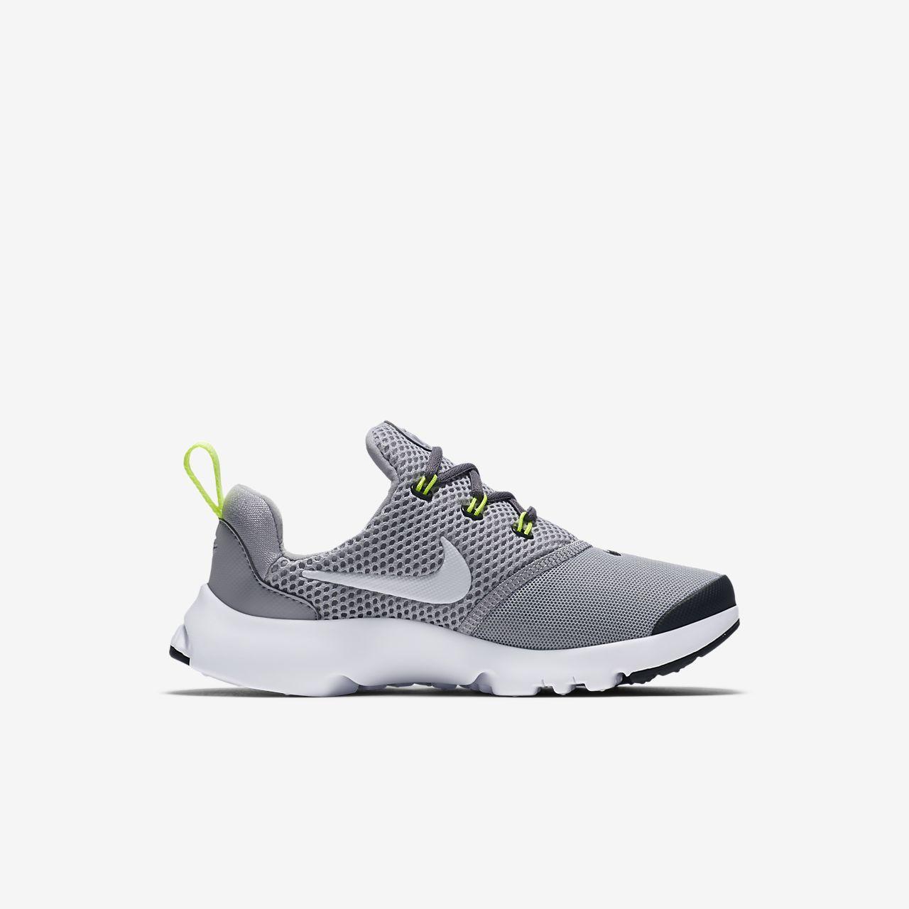 Nike Chaussures Fly Presto Baskets Lo Gris Blanc Blanc aDhgi