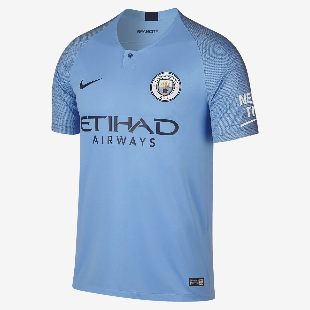 finest selection 84679 2c69f 2018/19 Manchester City FC Stadium Home Men's Football Shirt