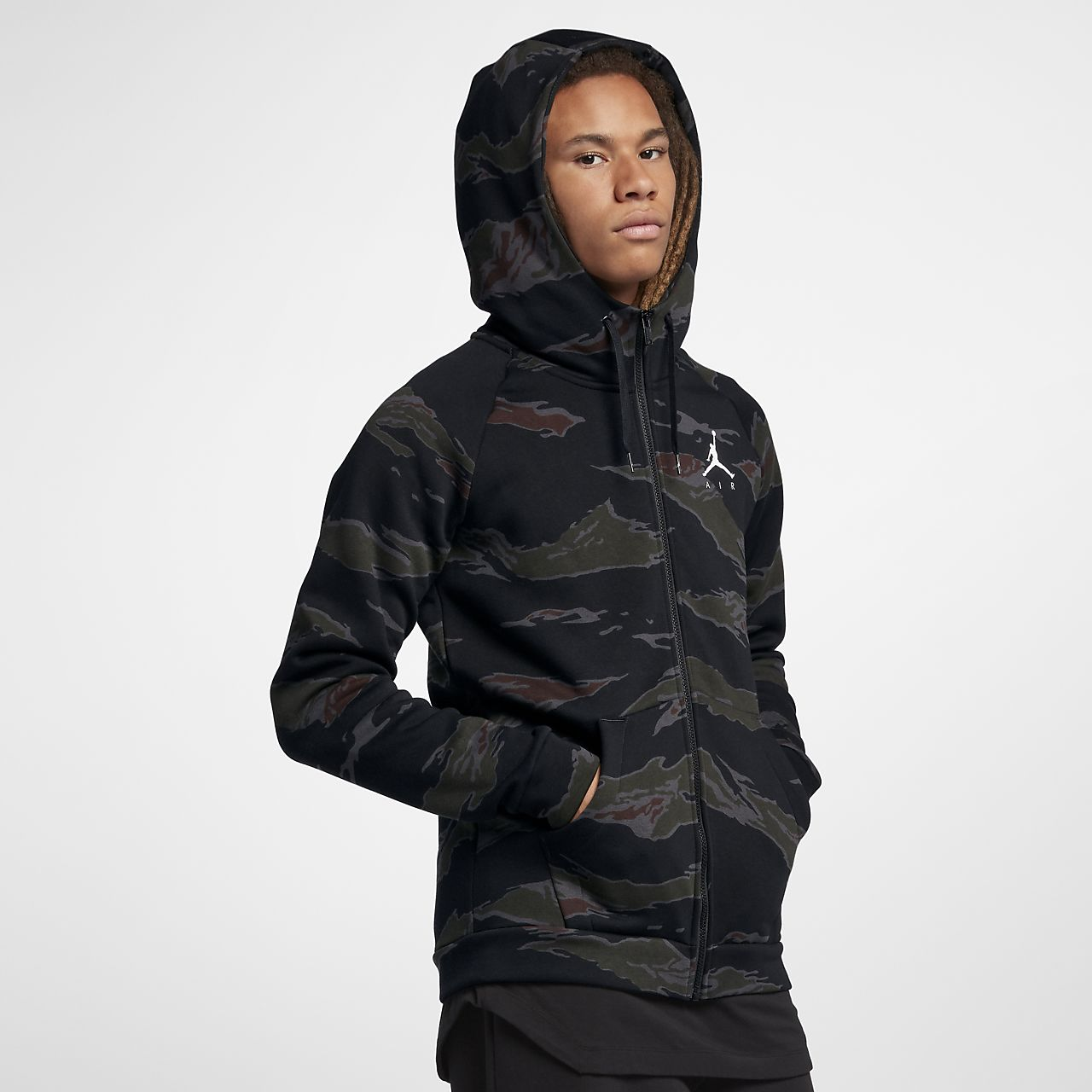 Jordan Sportswear Jumpman Men s Camo Fleece Full-Zip Hoodie. Nike.com RO 0782052e93839
