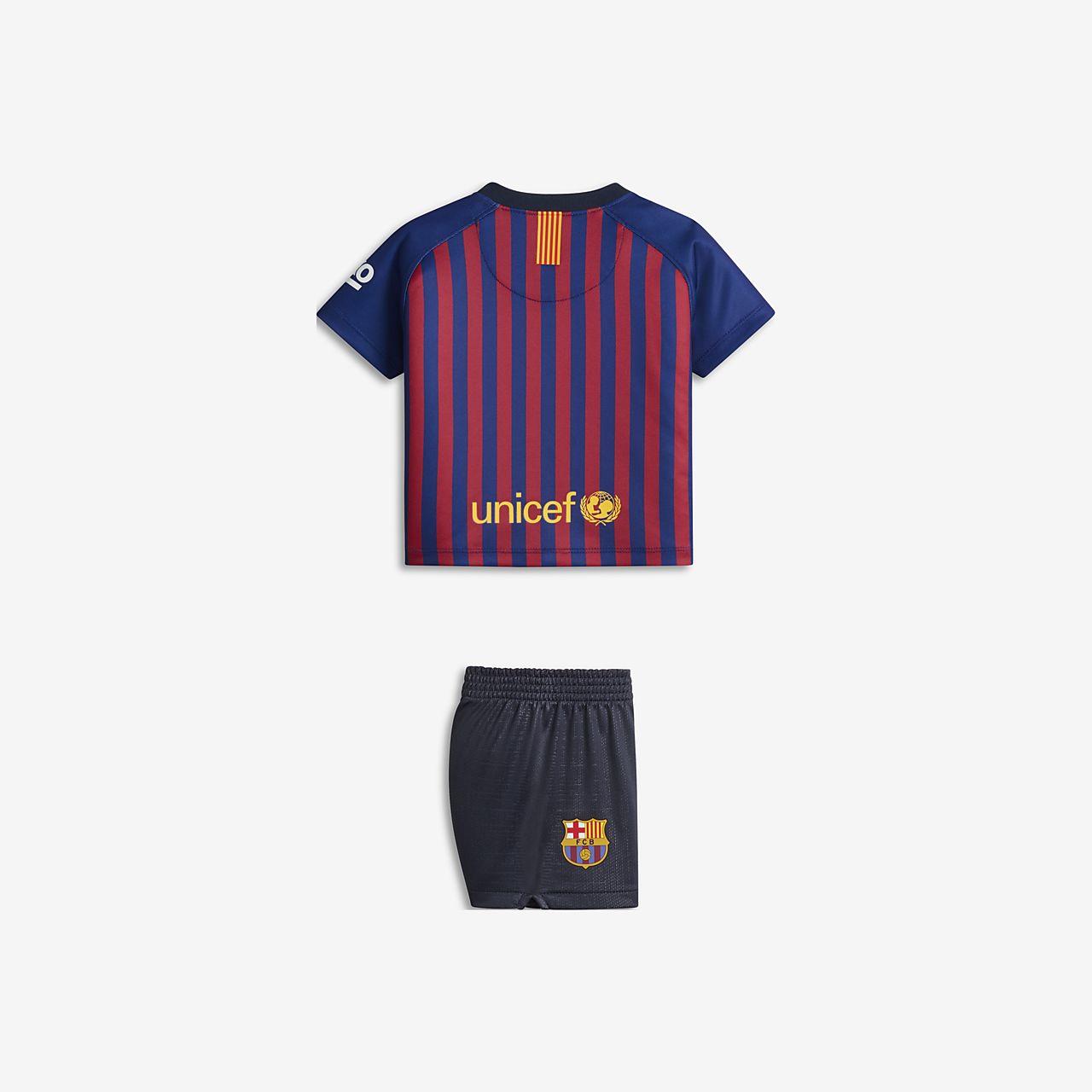 02478dfb500c6 Uniforme de fútbol para bebé 2018 19 FC Barcelona Stadium Home. Nike ...