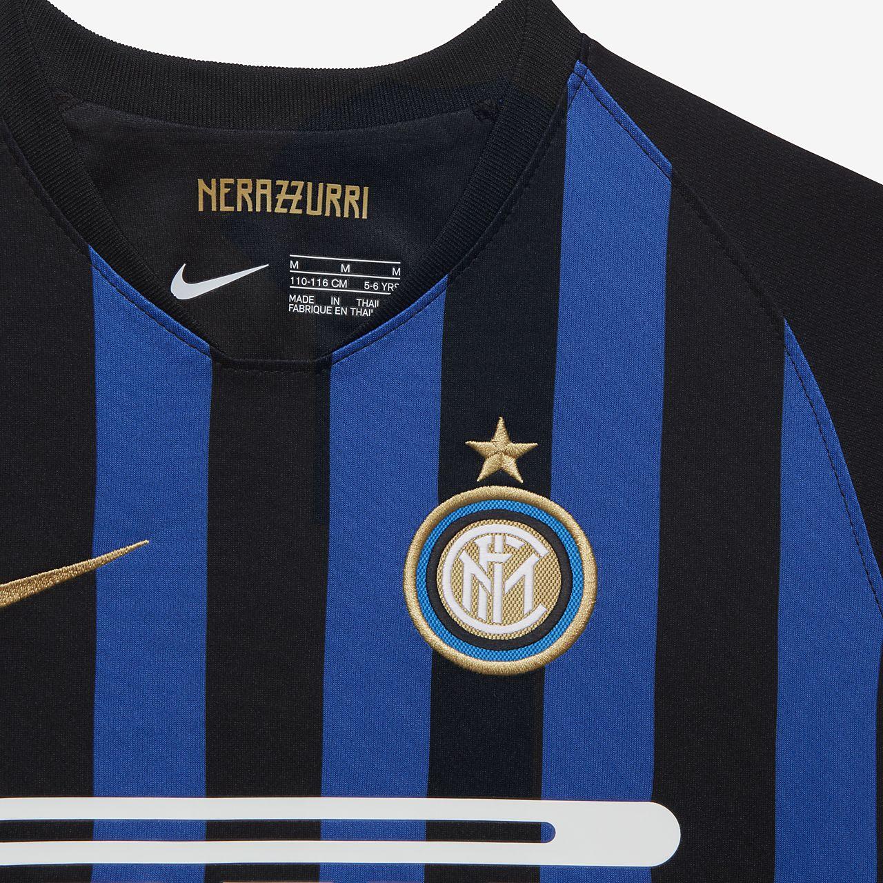 af9d537f7f00 2018 19 Inter Milan Stadium Home Younger Kids  Football Kit. Nike.com CA