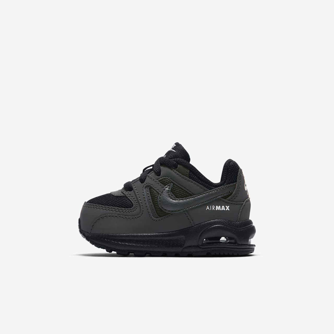nike air max command zwart/wit