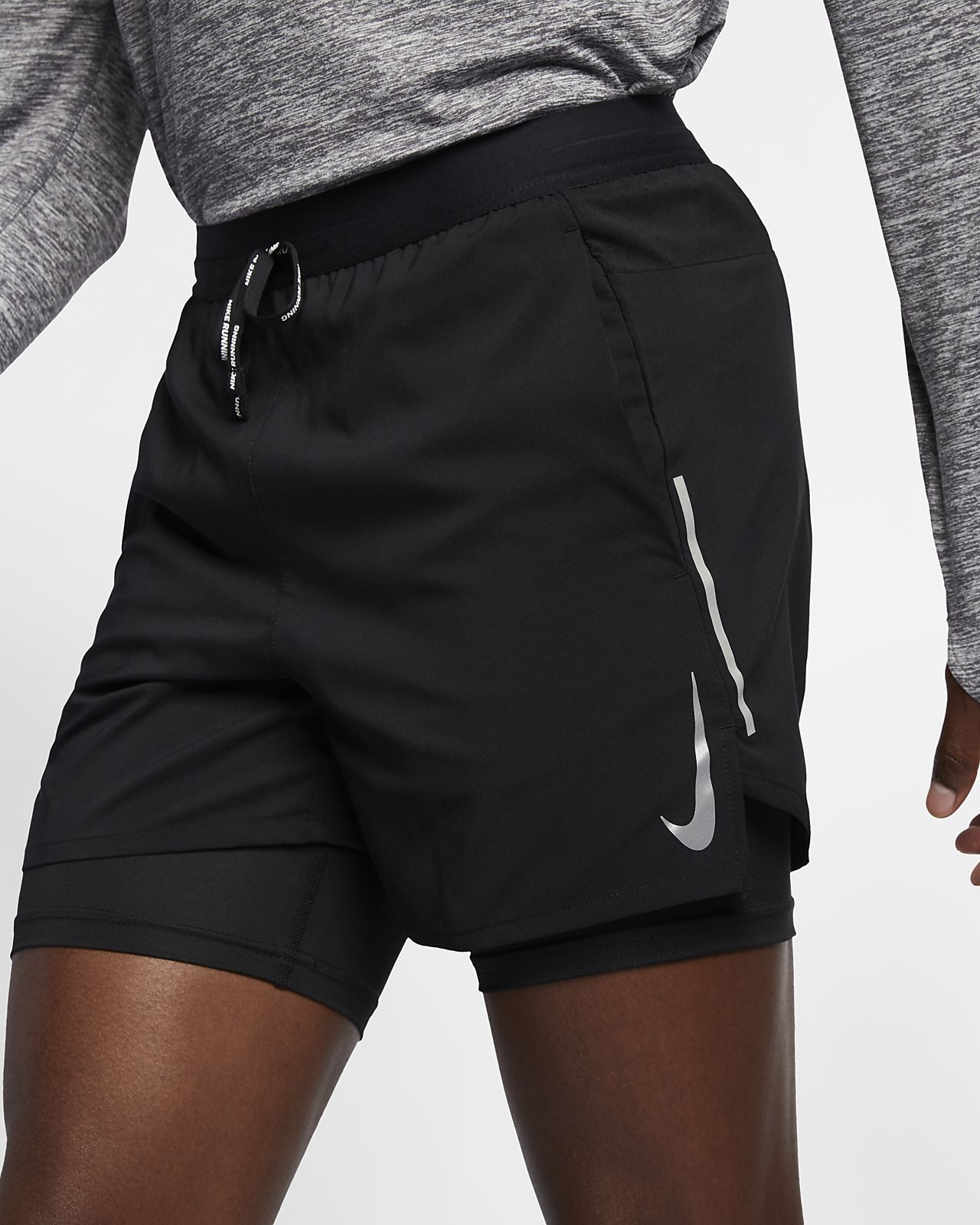 Nike Flex Stride 13 cm 2'si 1 Arada Erkek Koşu Şortu
