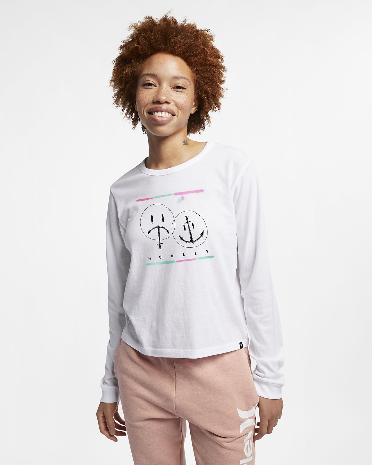 Hurley Laugh Now Shred Later Women's Long-Sleeve Top