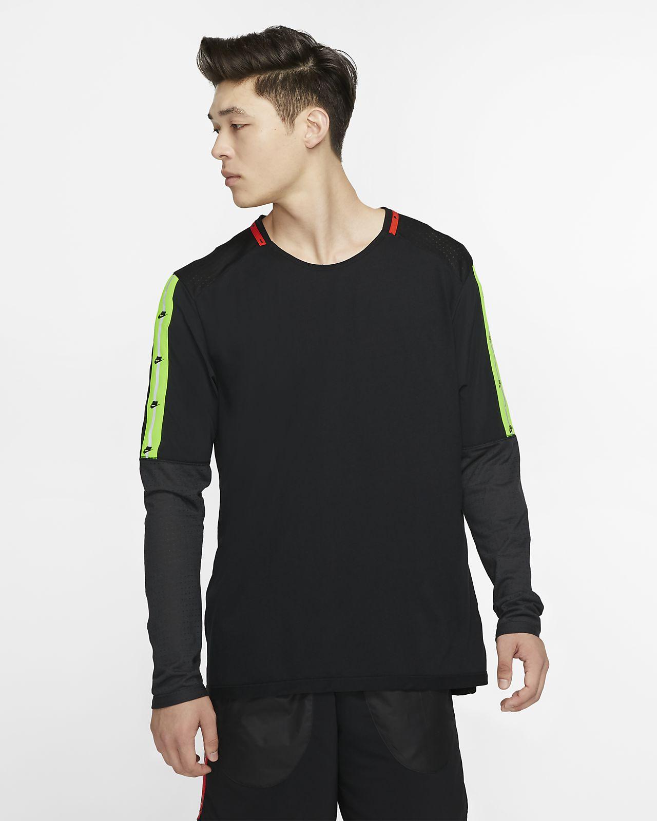 Haut de running à manches longues Nike pour Homme