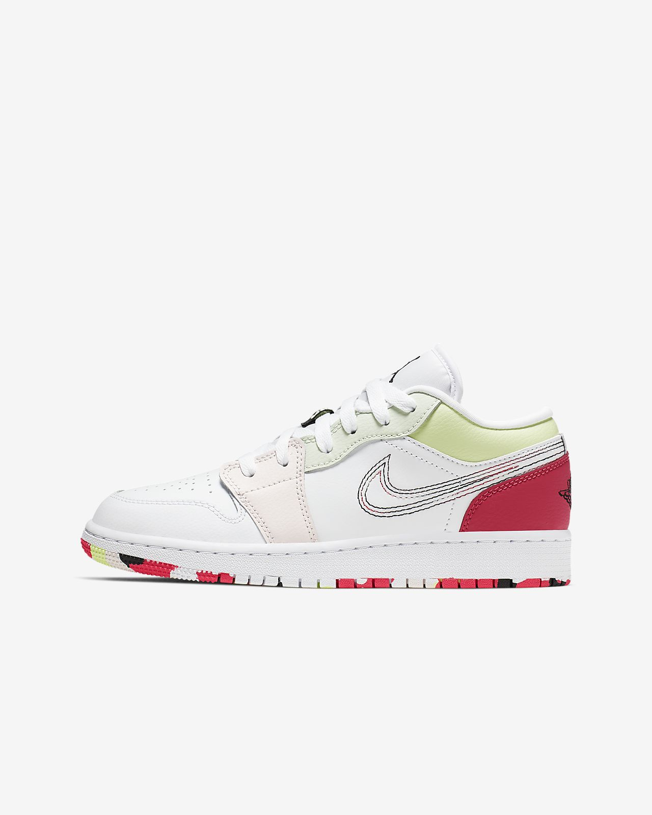 competitive price f6867 09e81 Air Jordan 1 Low Big Kids' (Girls') Shoe
