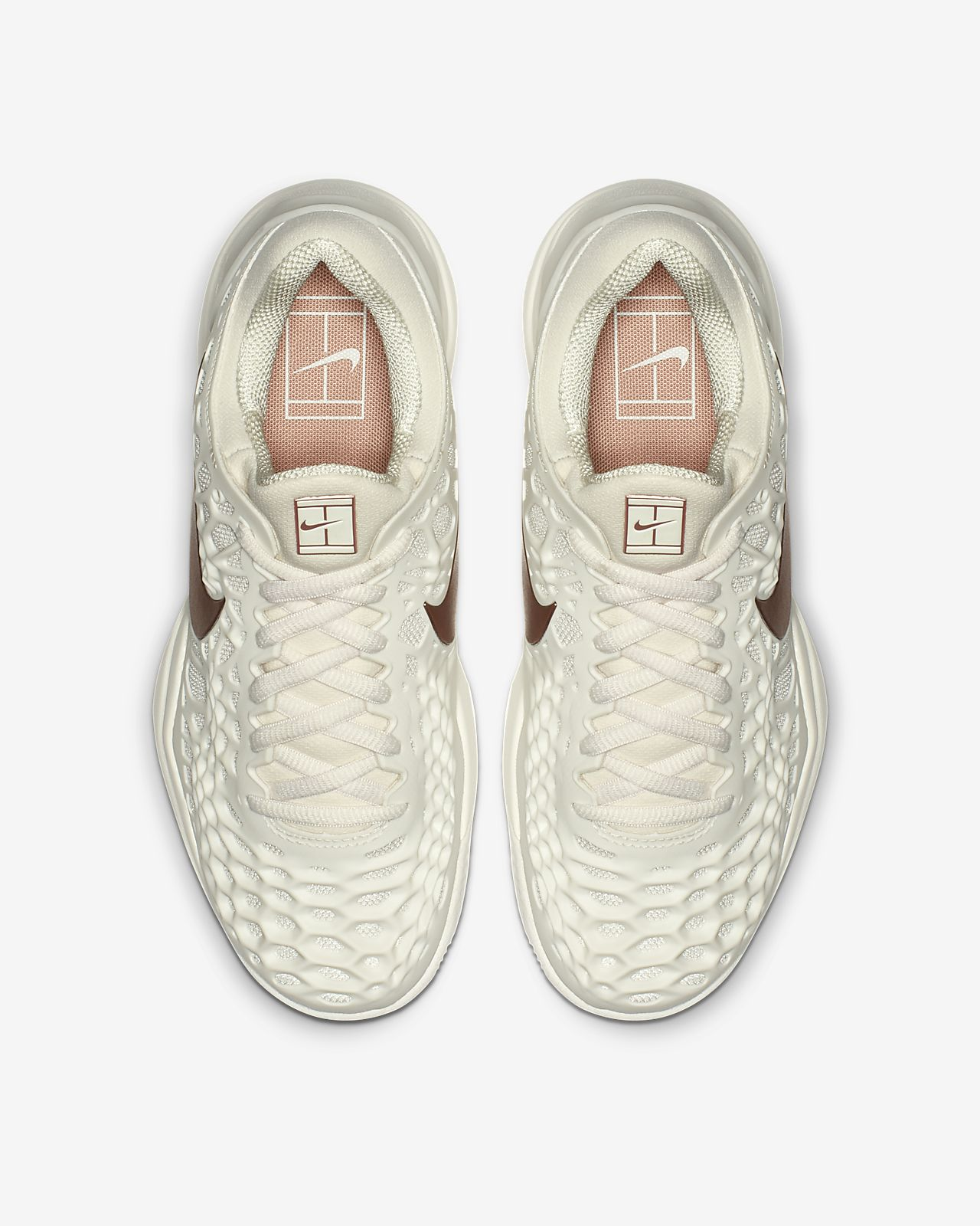 Nike Air Zoom Cage 3 Clay Rose Gold Women's Shoe