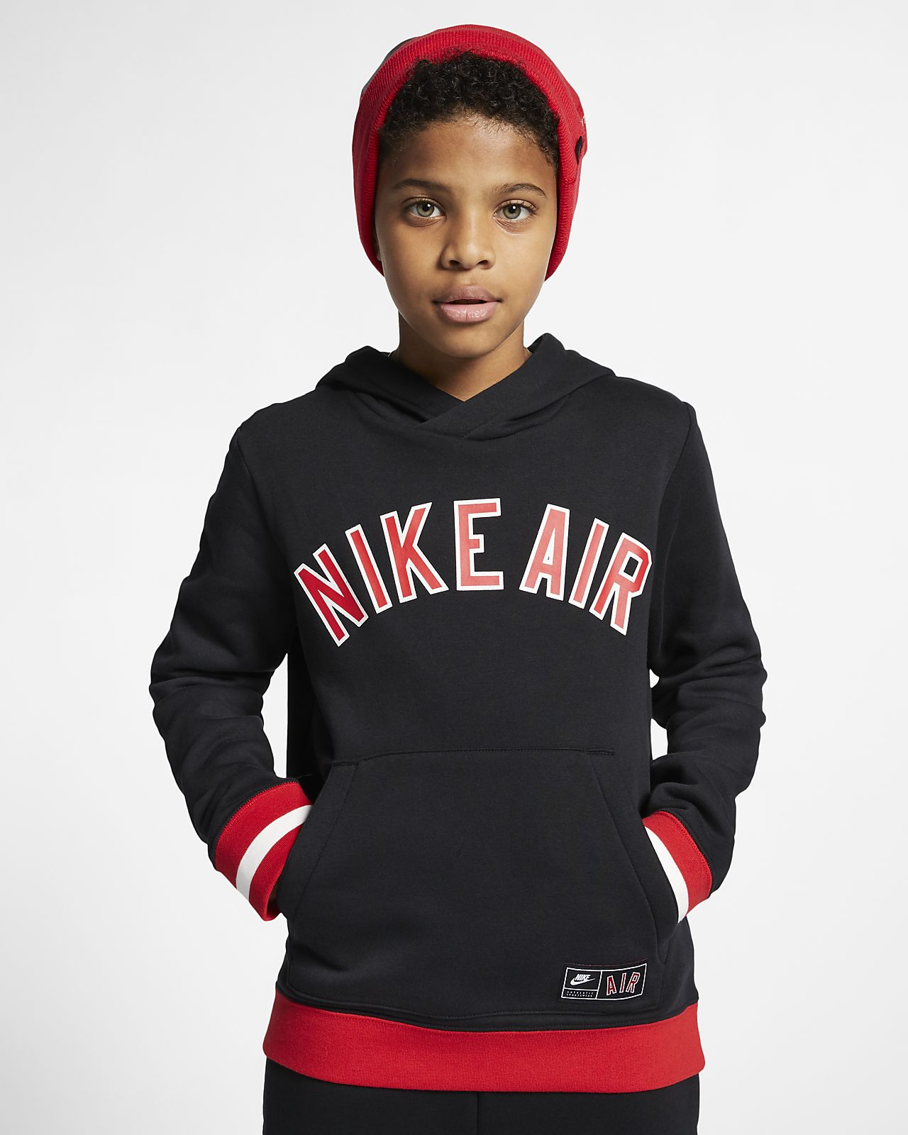 price reduced more photos aliexpress Nike Air Older Kids' Fleece Pullover Hoodie
