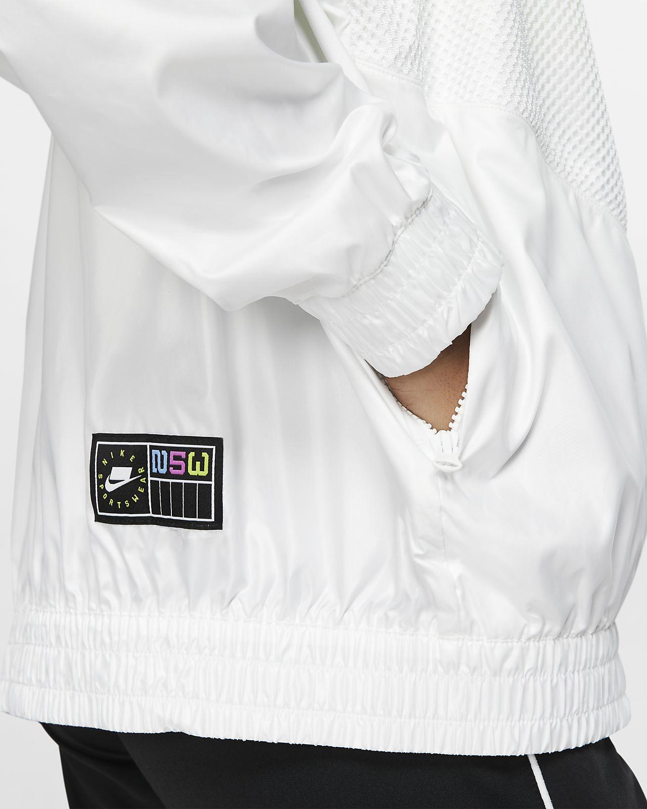 Nike Jacke NSW Woven WeißSchwarz Damen