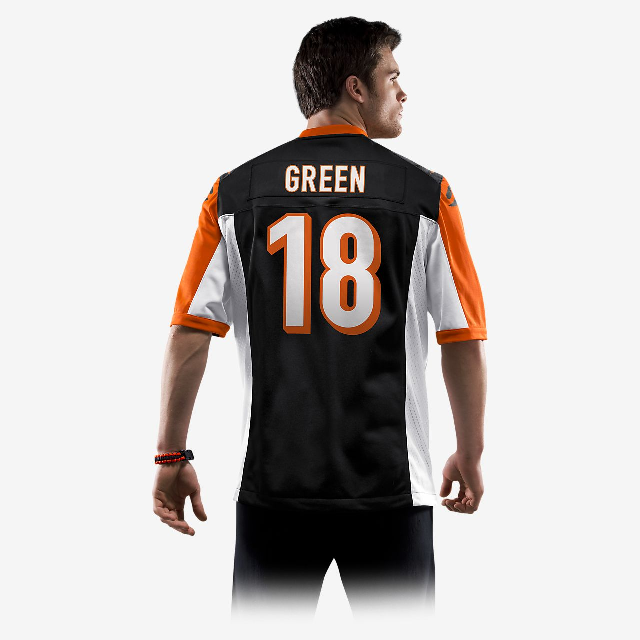 57c8ee25 NFL Cincinnati Bengals (A.J. Green) Men's American Football Home Game Jersey