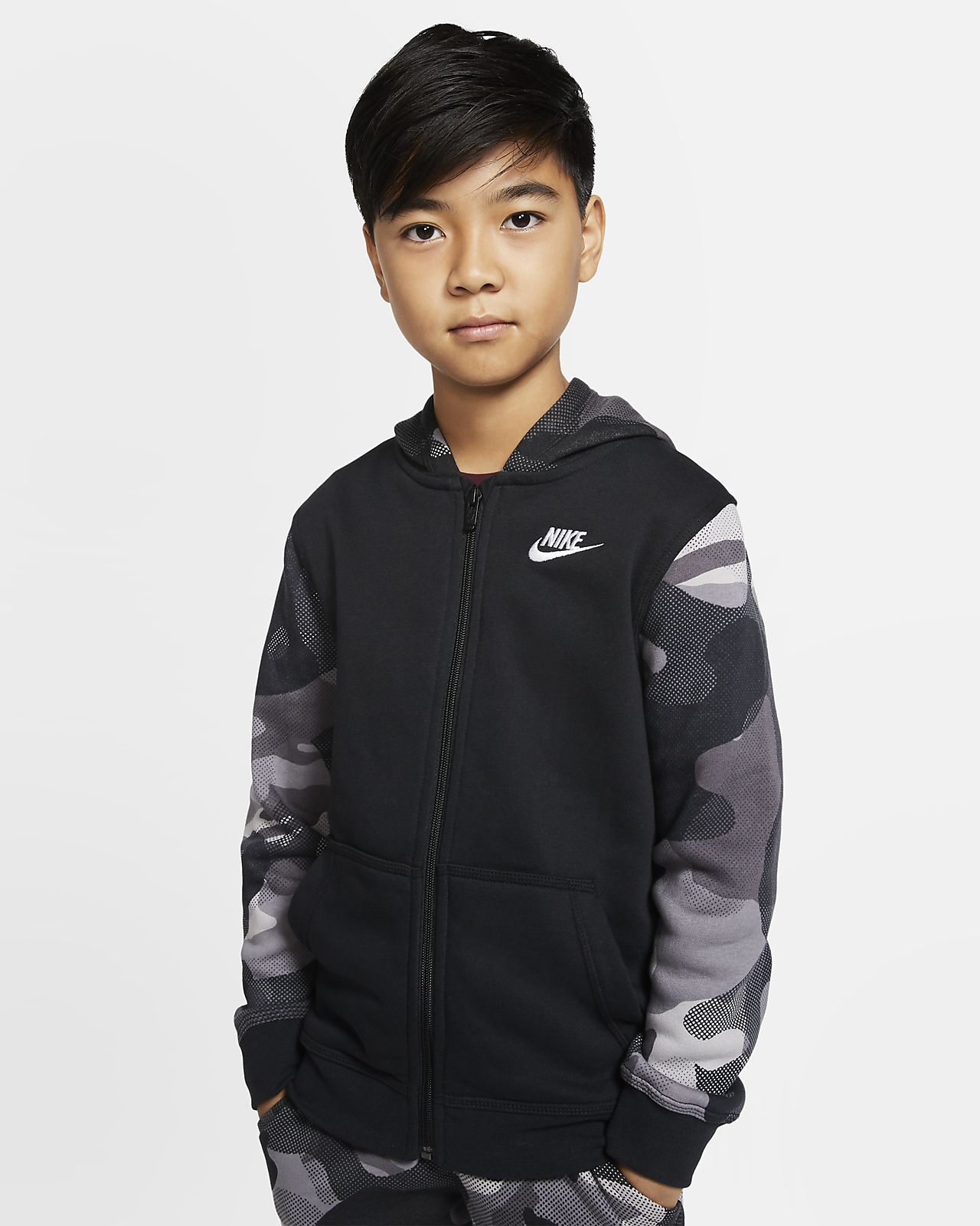 Nike Sportswear Club Big Hoodie mit durchgehendem